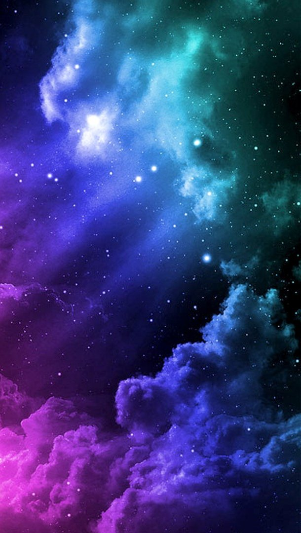 Wallpaper A universe of colors with clouds Vertical