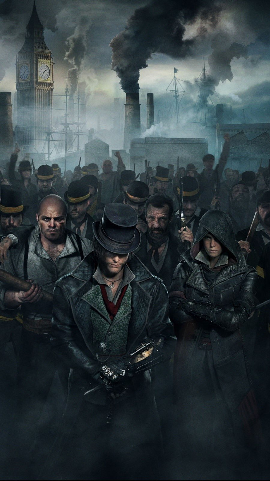 Wallpaper A crowd at Assassins Creed Syndicate Vertical