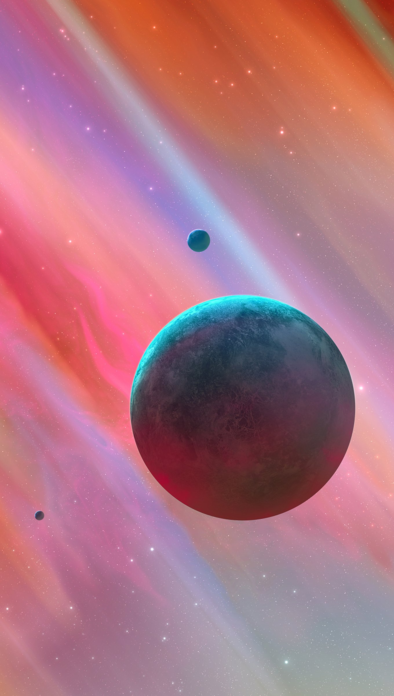 Fondos de pantalla Universo de colores Vertical