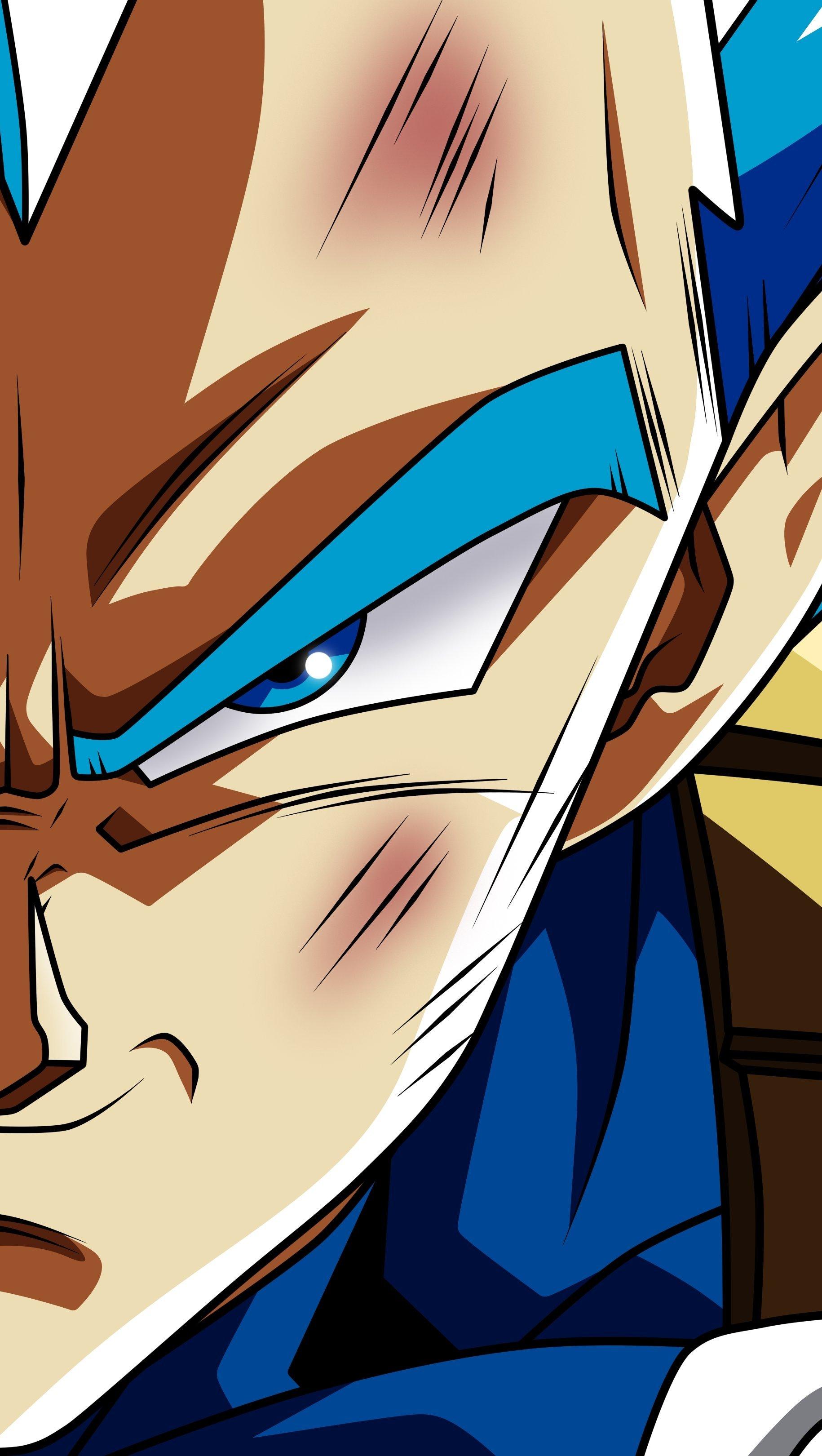 Anime Wallpaper Vegeta from Dragon Ball Super Vertical