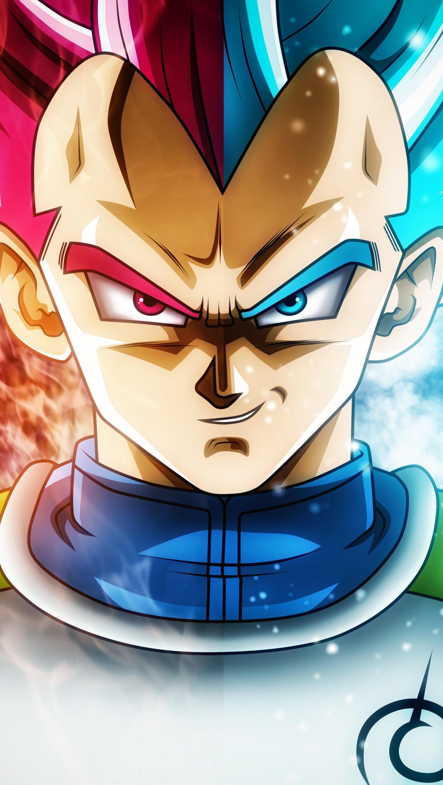 Fondos de pantalla Anime Vegeta Saiyan Blue y Saiyan God Dragon Ball Super Vertical