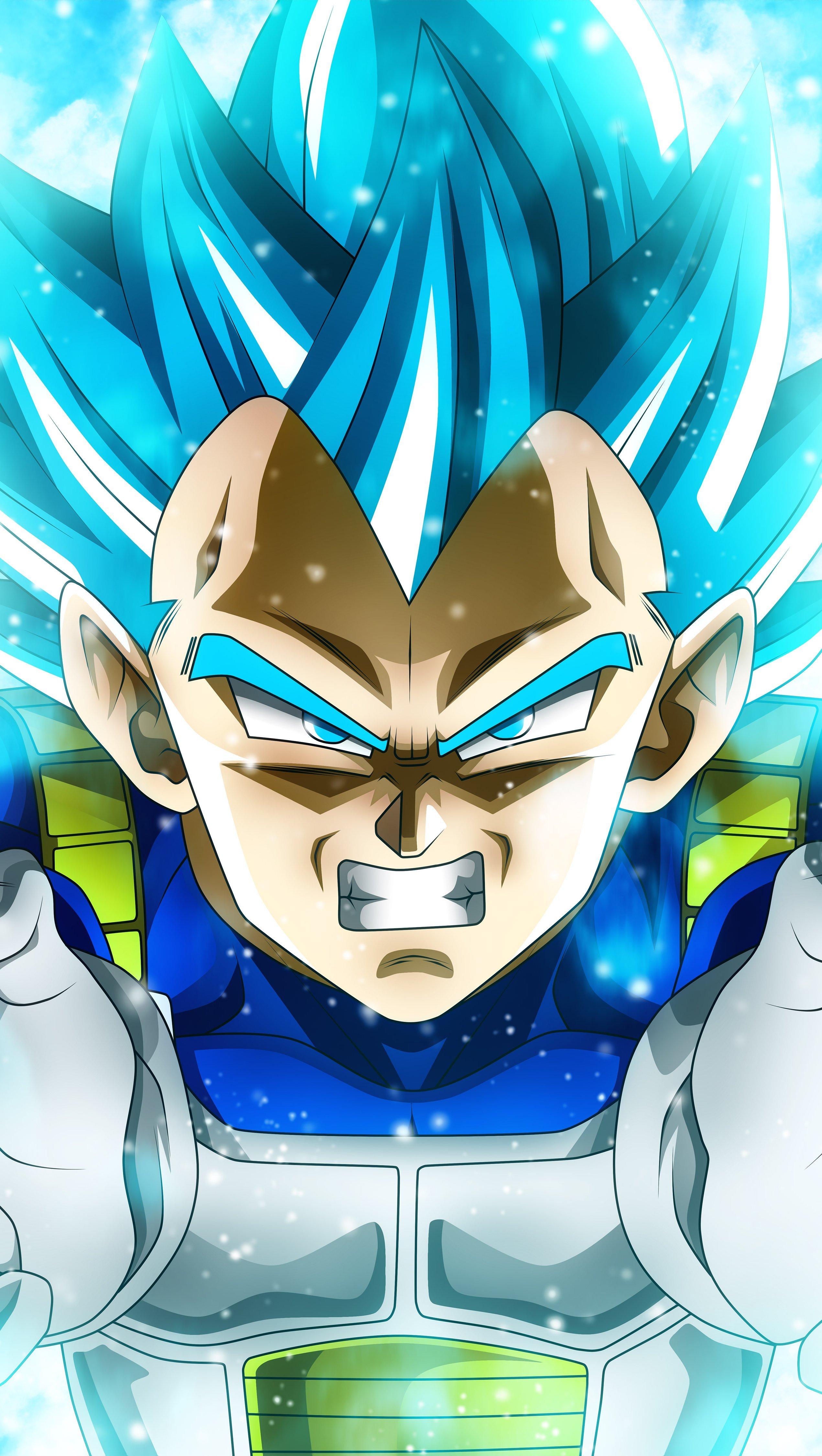 Fondos de pantalla Anime Vegeta Super Saiyan Blue de Dragon Ball Super Vertical