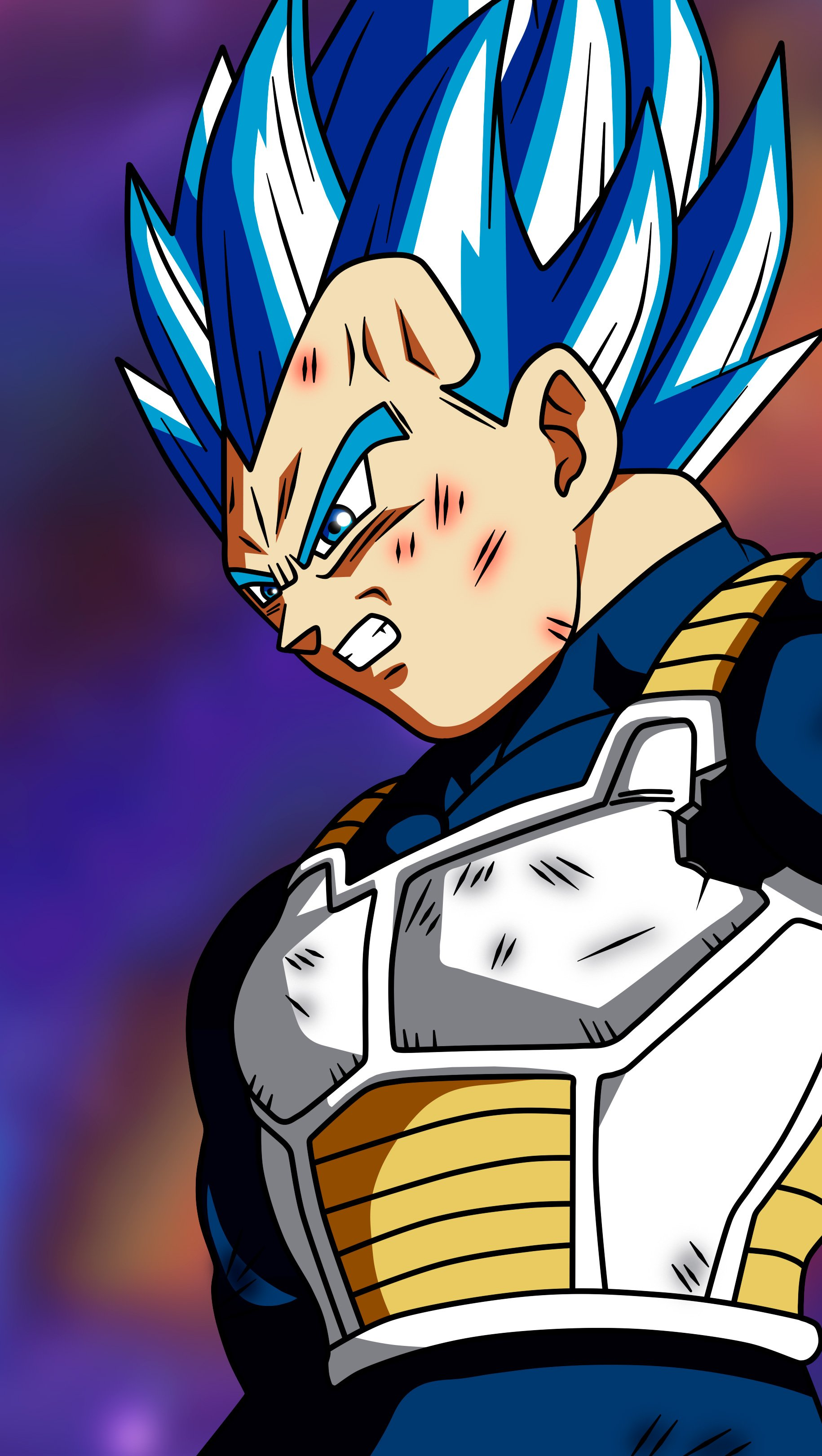 Fondos de pantalla Anime Vegeta Super Saiyan Blue Dragon Ball Super Vertical