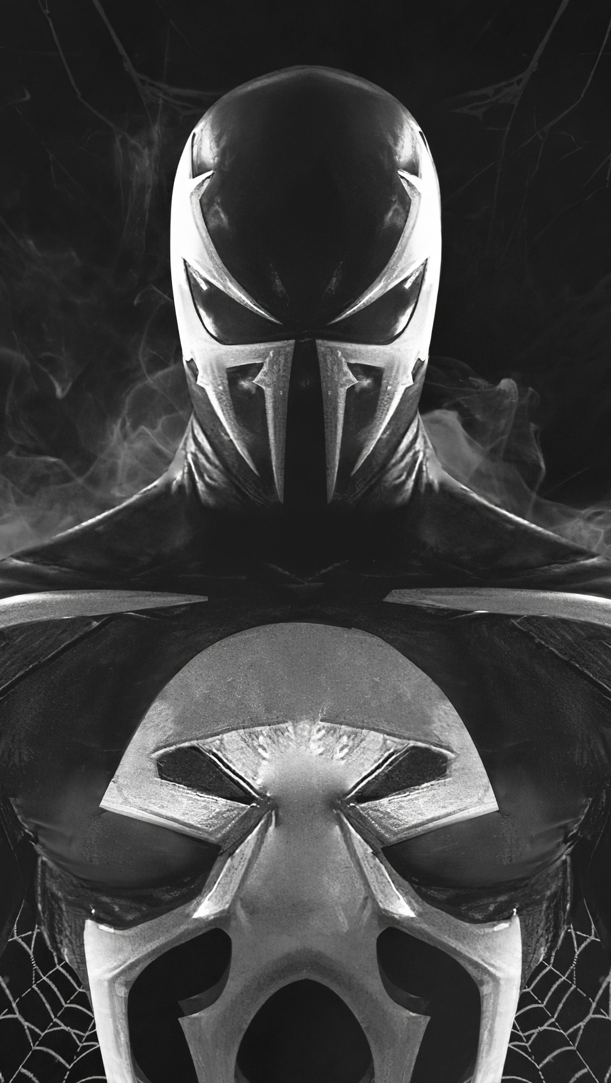 Fondos de pantalla Venom combinado con Punisher Vertical
