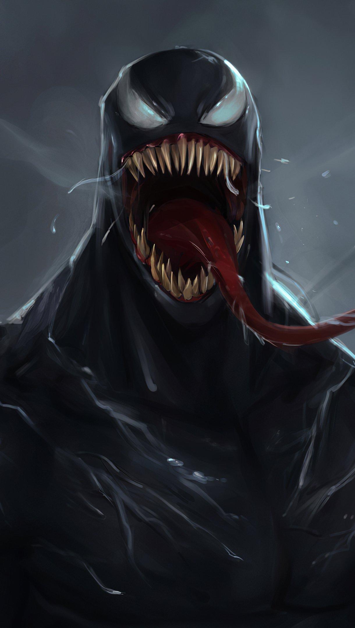 Wallpaper Venom Illustration Vertical
