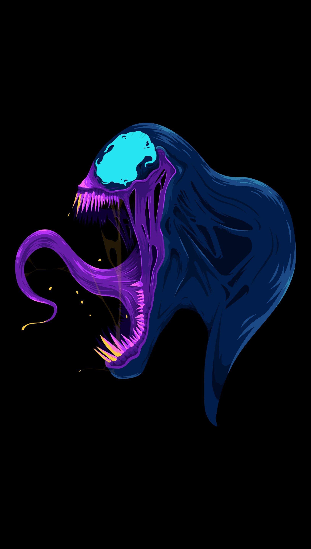 Fondos de pantalla Venom Ilustración arte minimalista Vertical