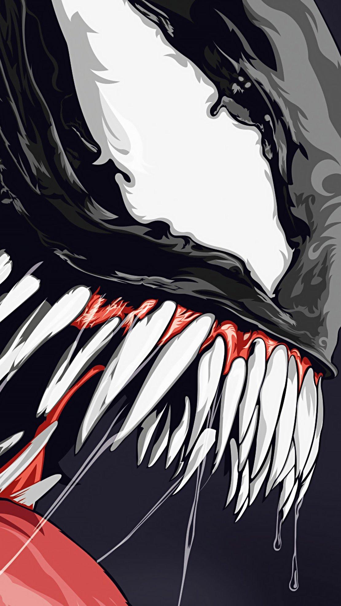 Wallpaper Venom illustration Artwork Vertical
