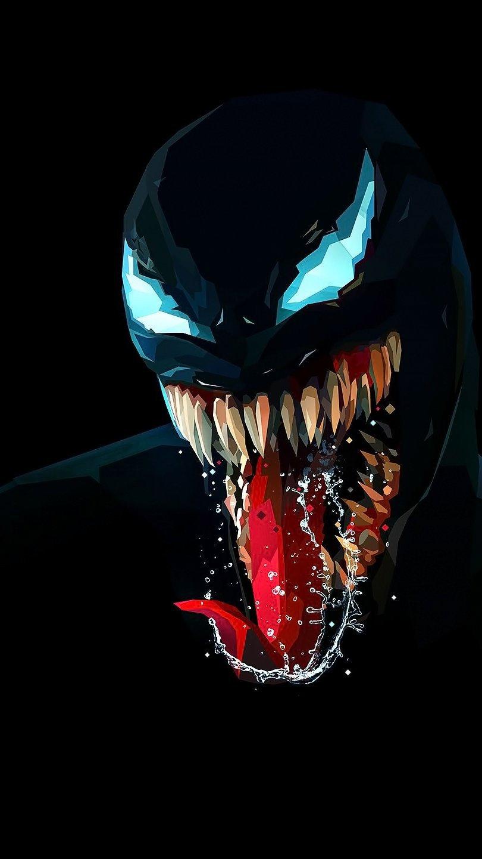 Fondos de pantalla Venom Ilustración minimalista Vertical
