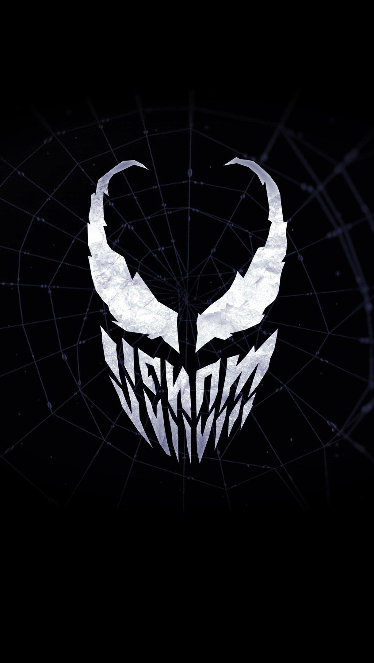 Wallpaper Venom Minimalist Logo Vertical