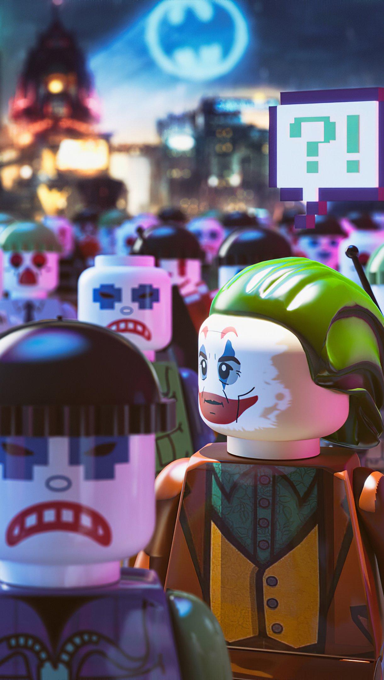 Fondos de pantalla Versiones del Guasón Lego Vertical