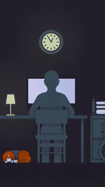 Fondos de pantalla Vida de estudiante estilo minimalista Vertical