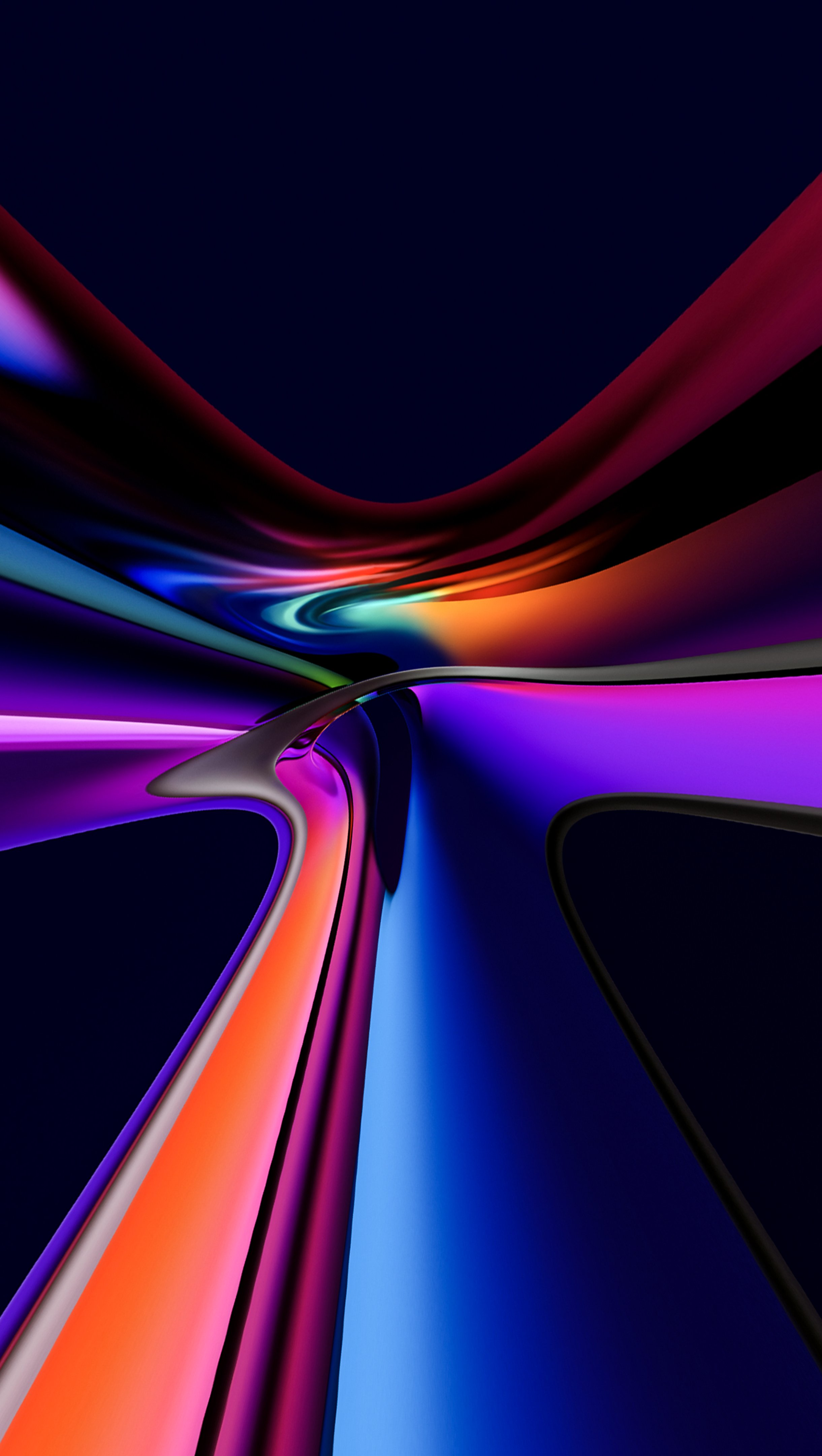 Fondos de pantalla Vidrio mezclado de colores Vertical