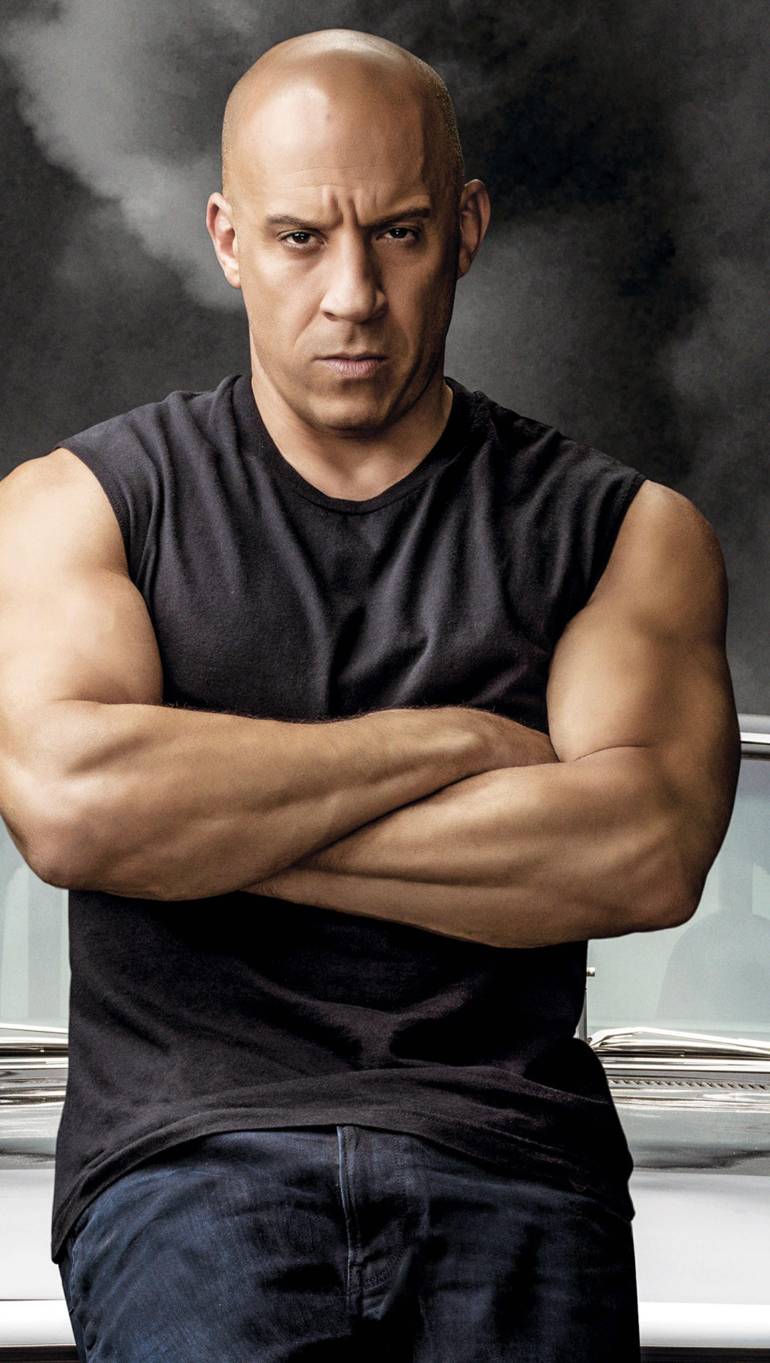 Wallpaper Vin Diesel  as Dominic Toretto in Fast and Furious 9 Vertical