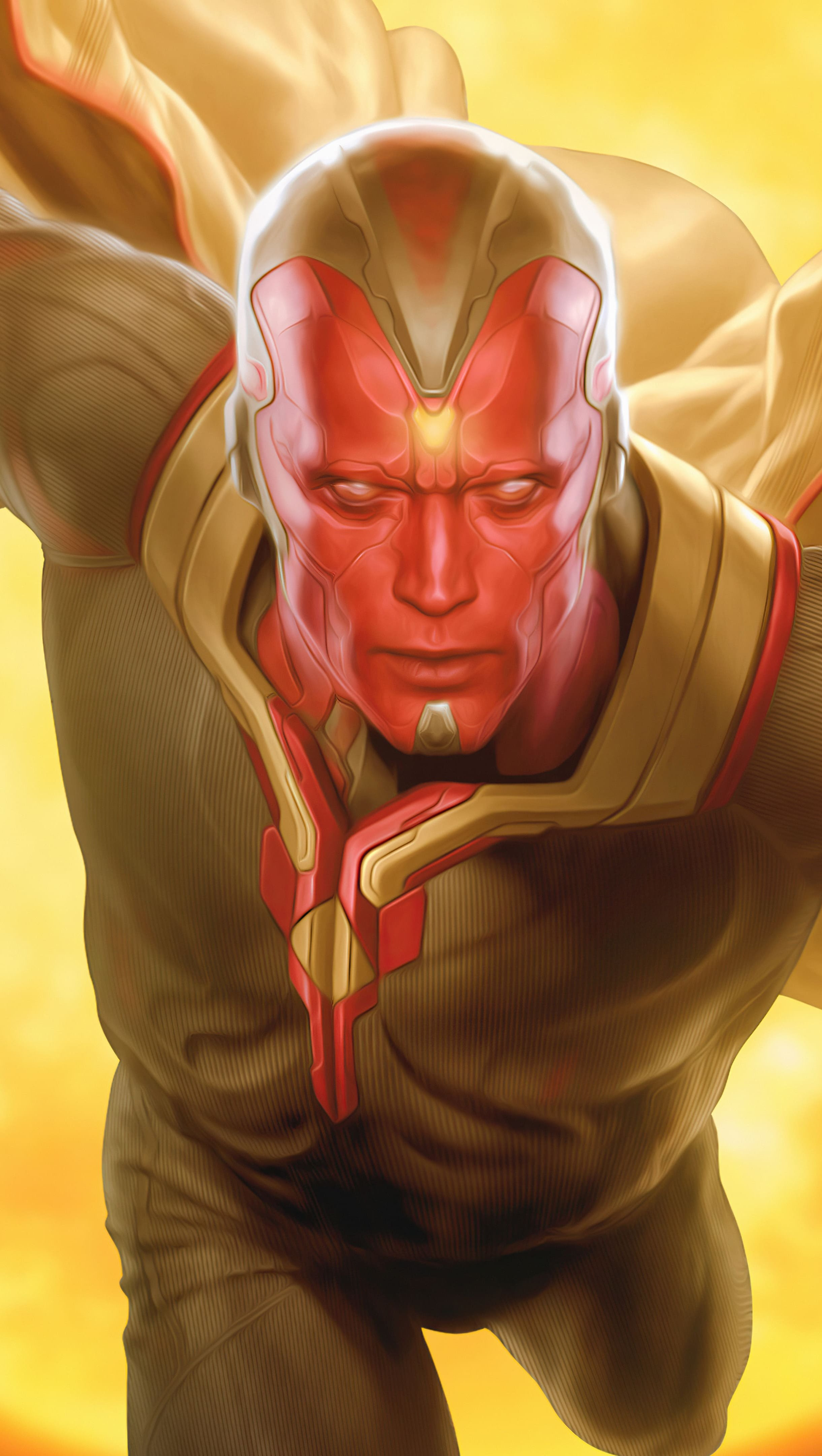 Fondos de pantalla Vision Marvel Artwork Vertical