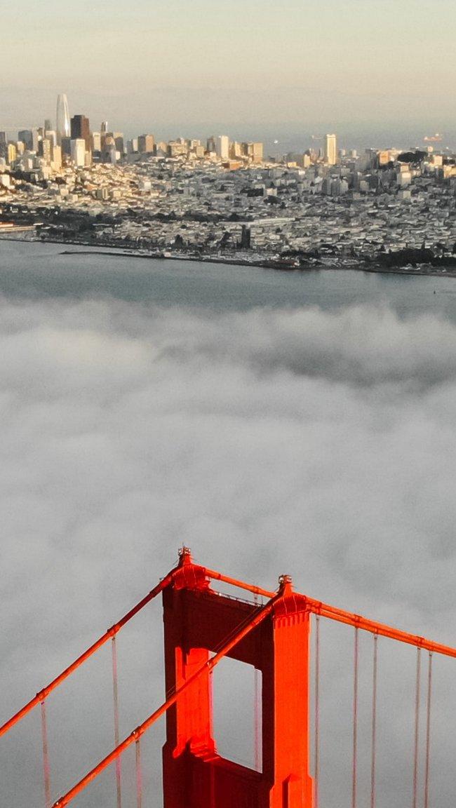 Fondos de pantalla Vista aérea de San Francisco Vertical