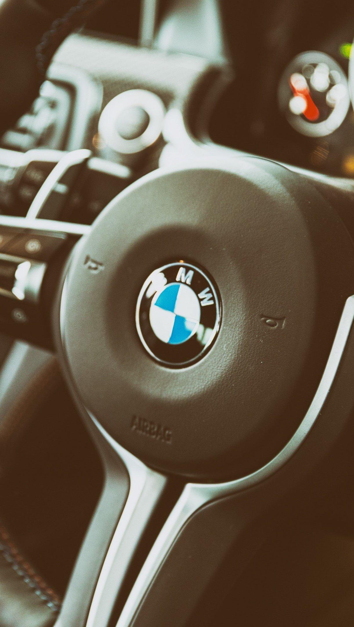 Wallpaper BMW M6 steering wheel Vertical