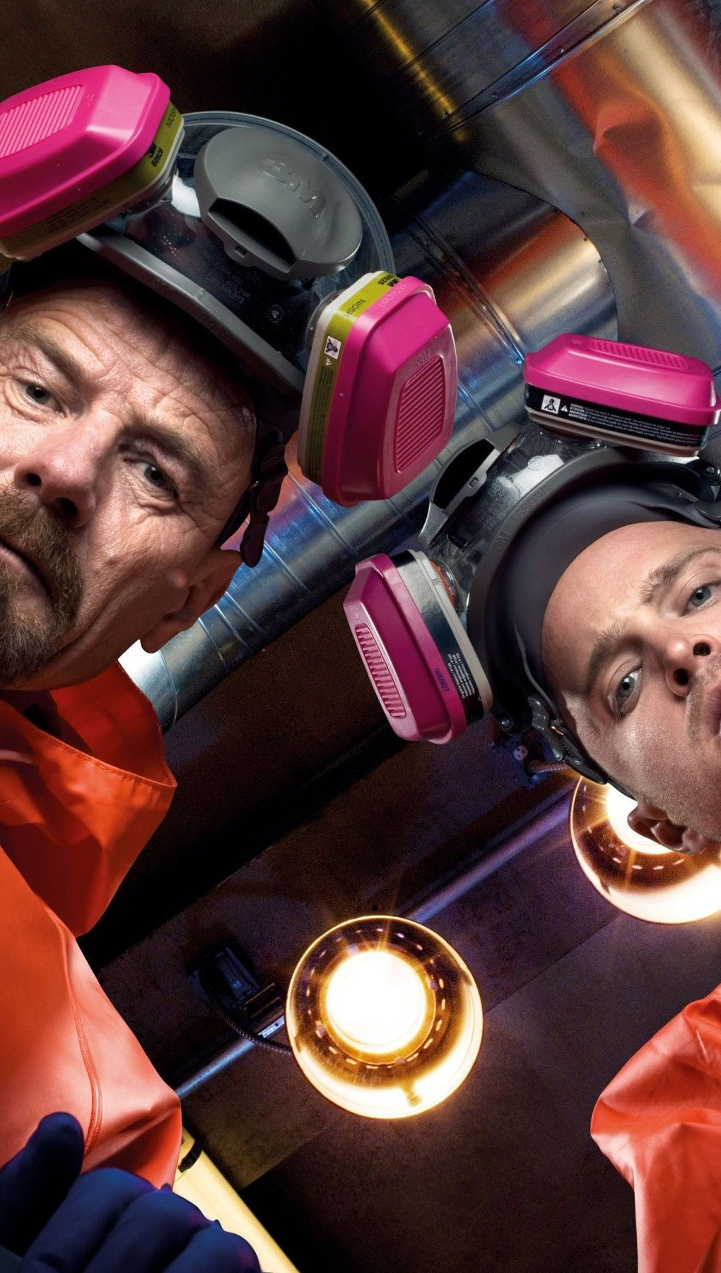 Wallpaper Walter White and Jesse Pinkman of Breaking Bad Vertical