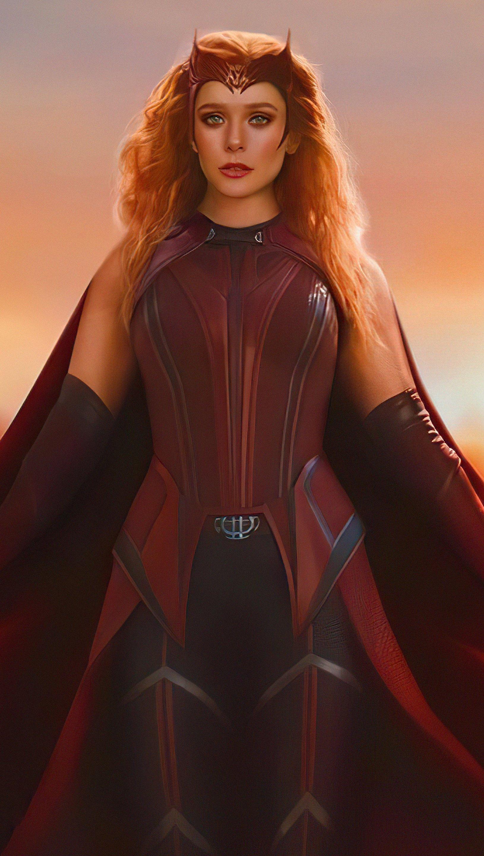 Wallpaper Wanda as Scarlet Witch Vertical