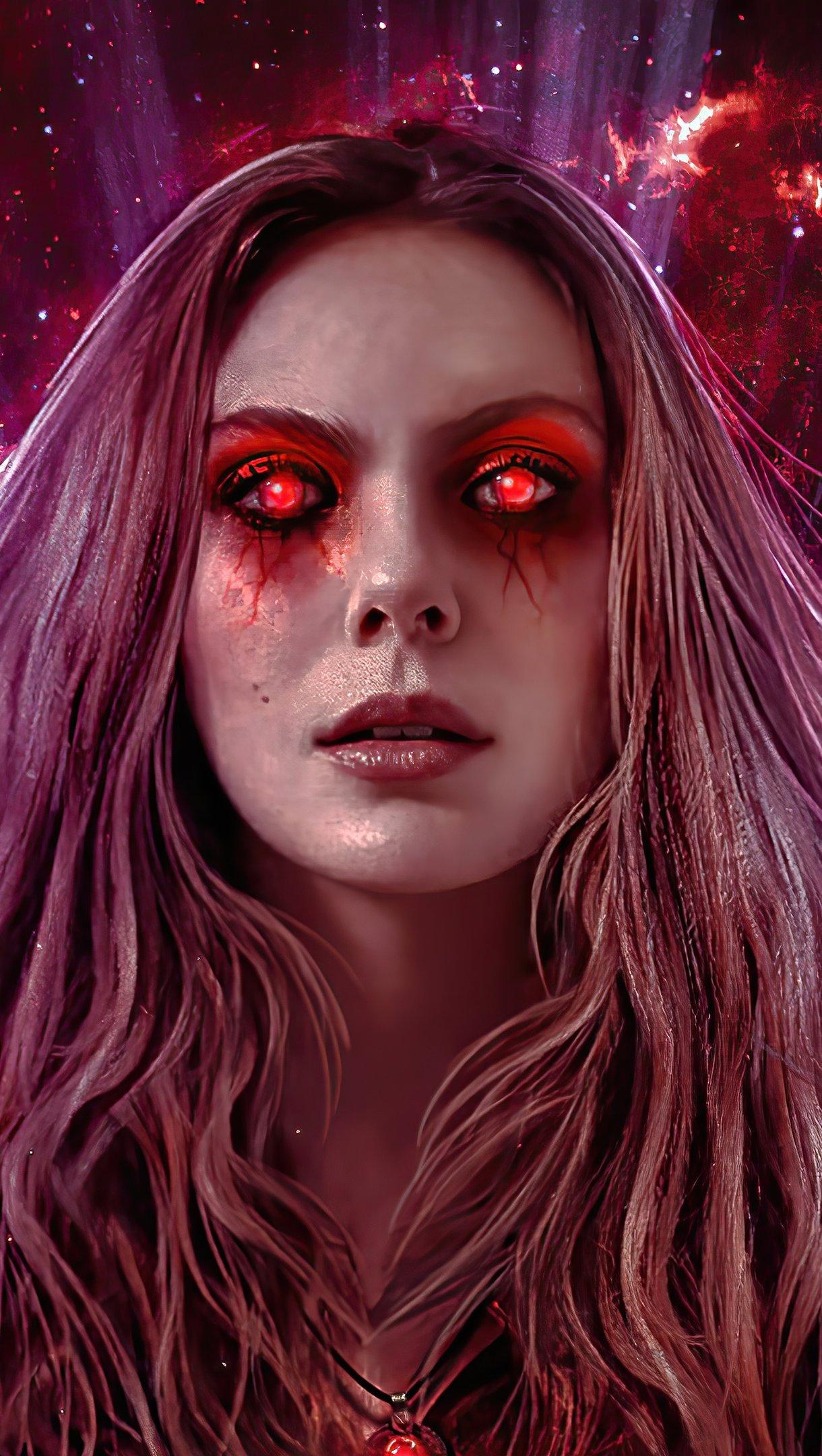 Wallpaper Wanda red eyes Vertical