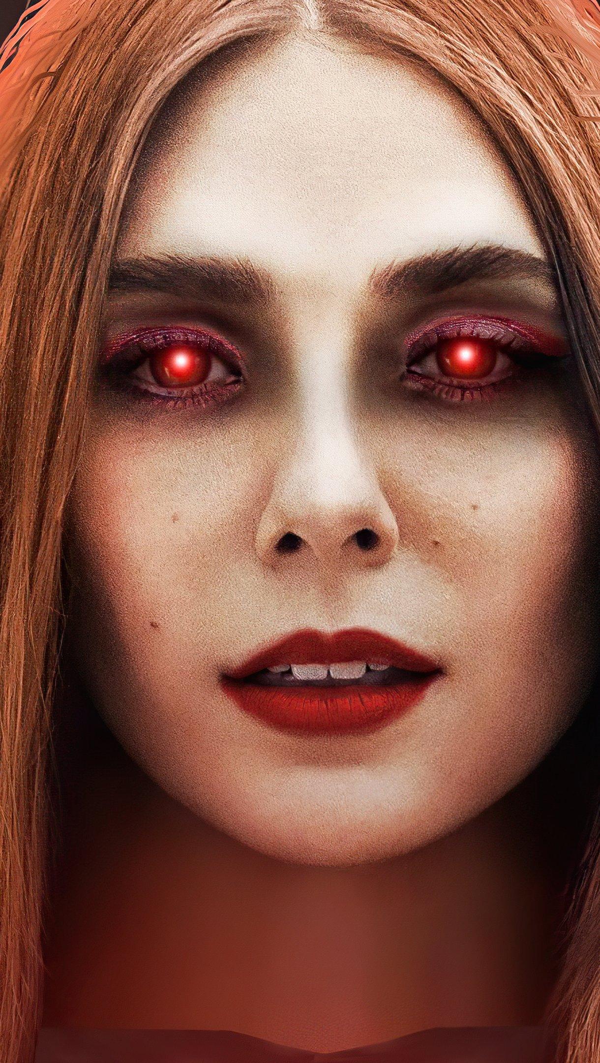 Wallpaper Wandavision glowing eyes Vertical