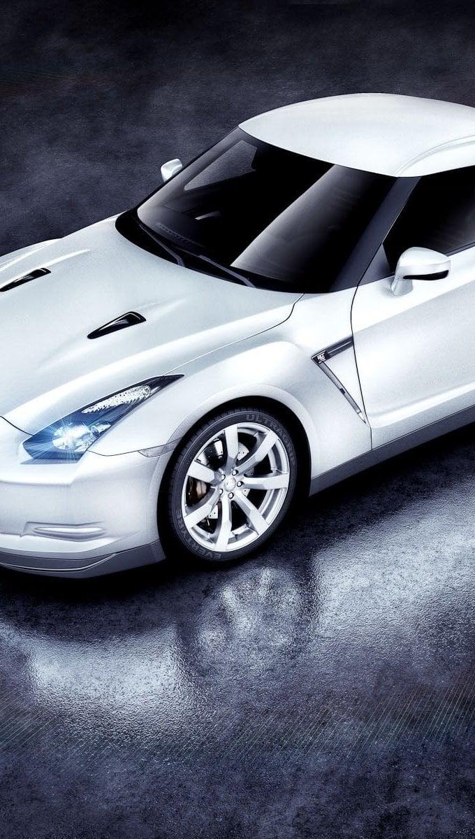 Fondos de pantalla White Nissan GTR Vertical
