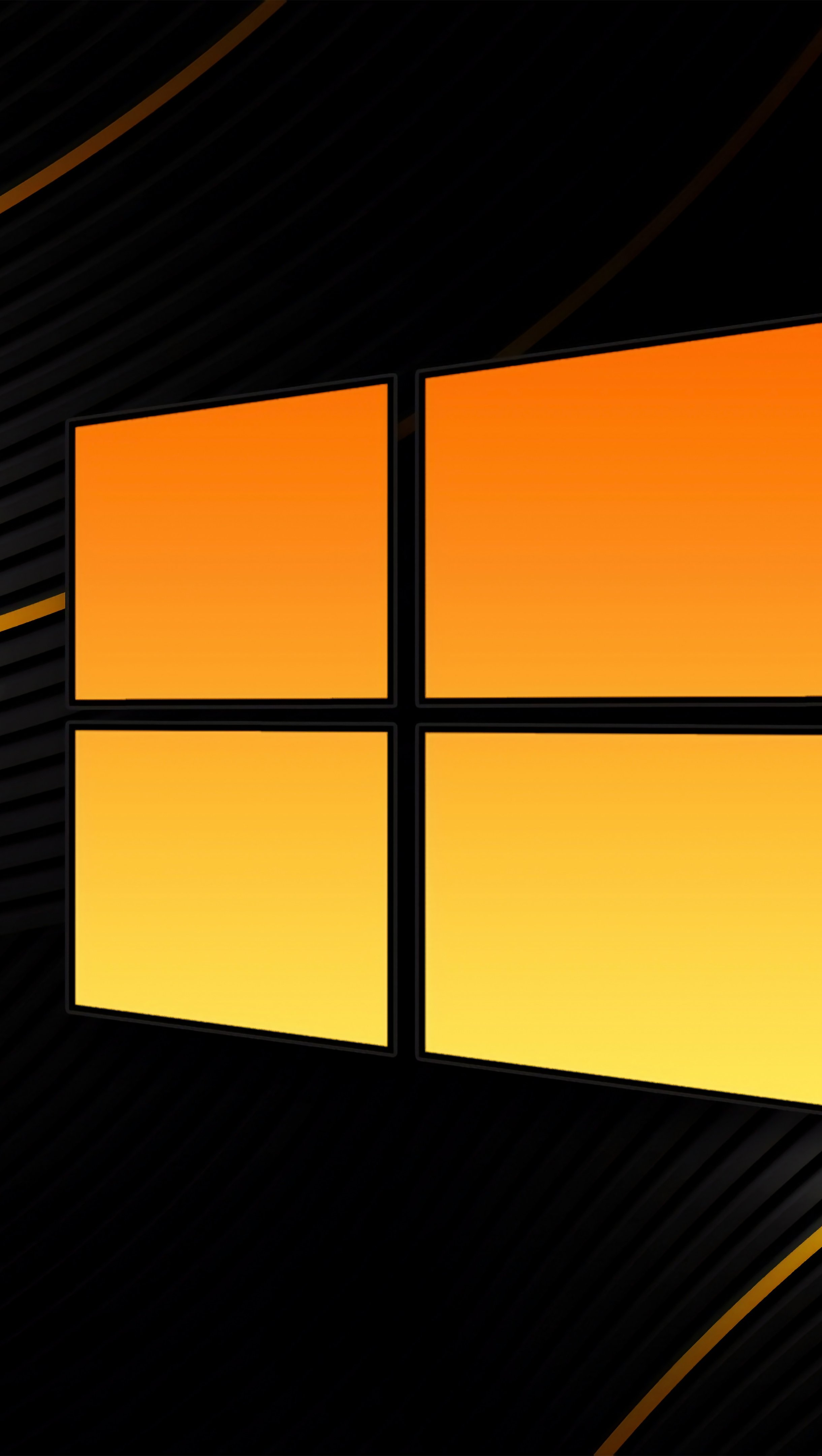 Fondos de pantalla Windows 10 Negro Vertical
