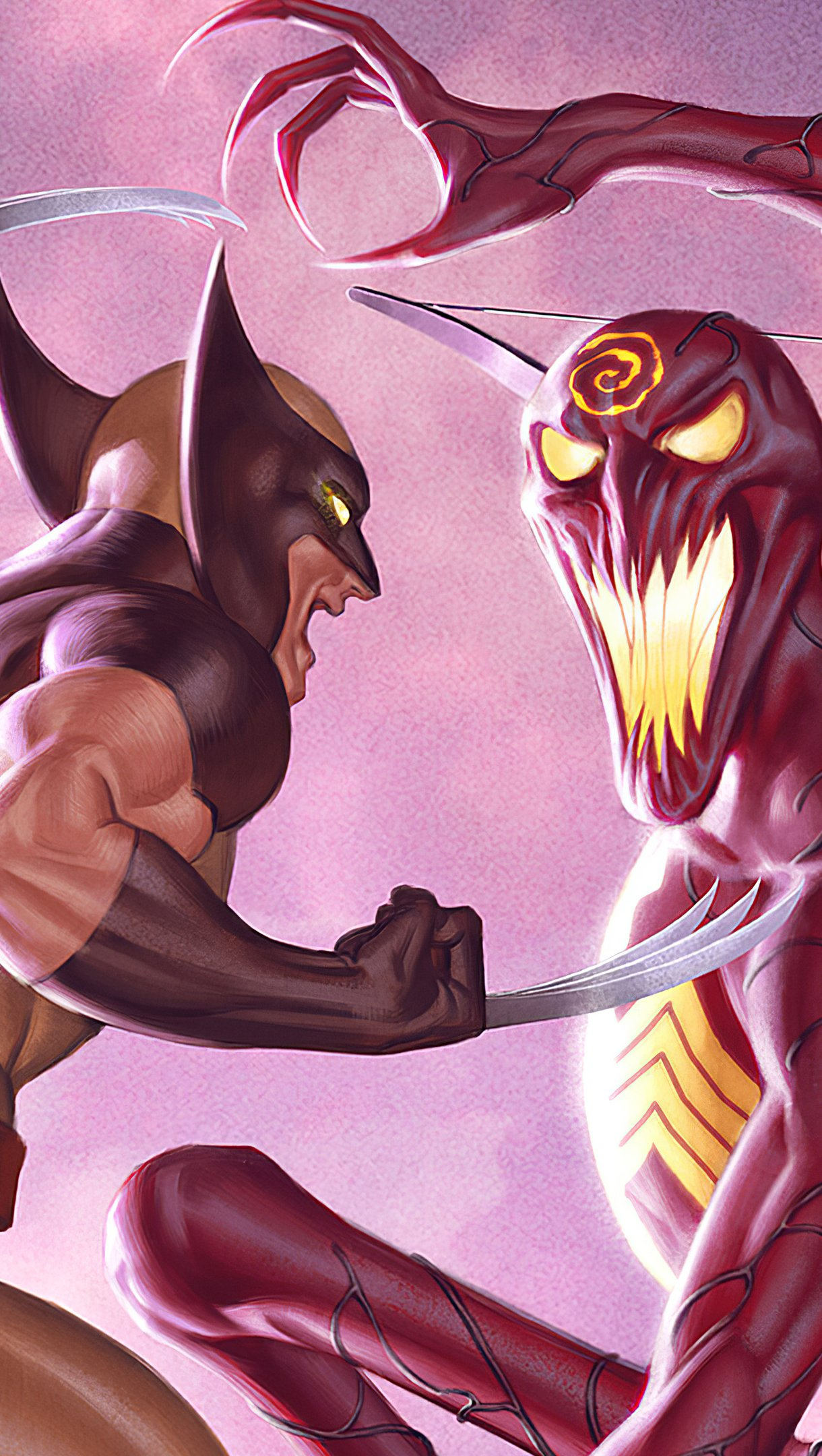 Fondos de pantalla Wolverine contra Carnage Vertical
