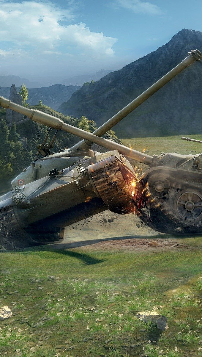 Wallpaper World of Tanks Battle Vertical