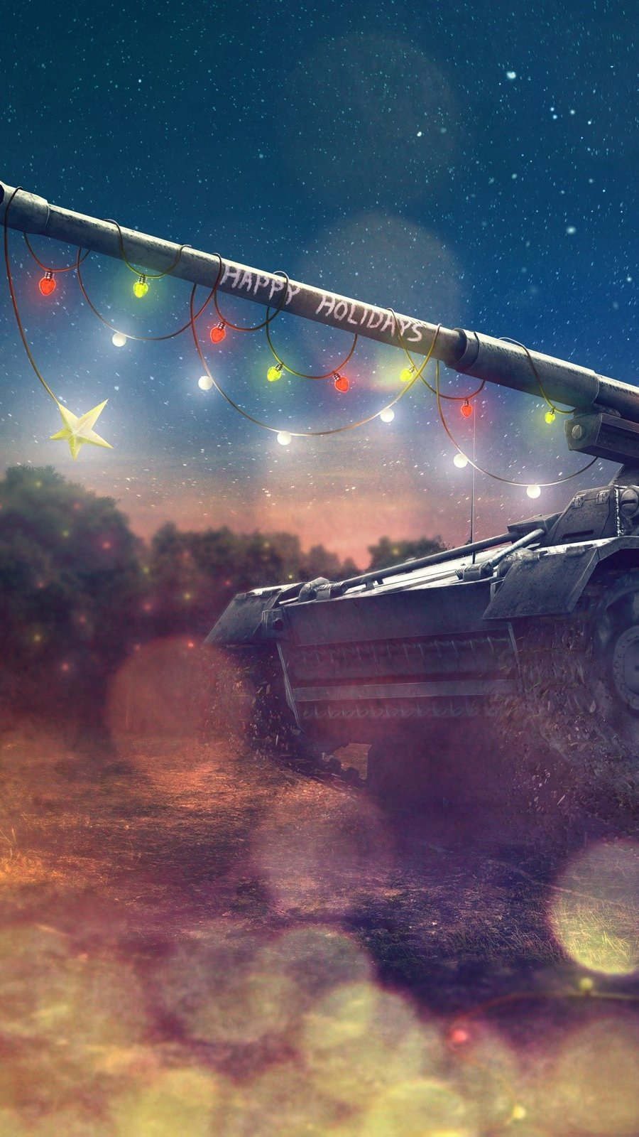 Wallpaper World of Tanks Holidays Vertical