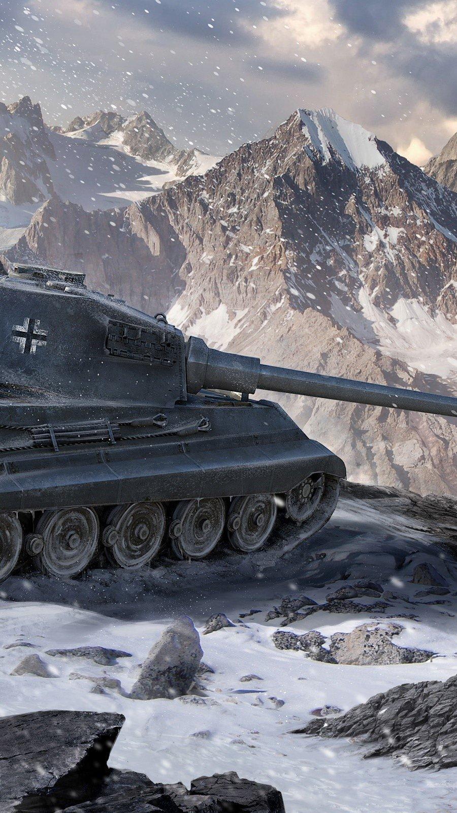 Wallpaper World of tanks king tiger Vertical