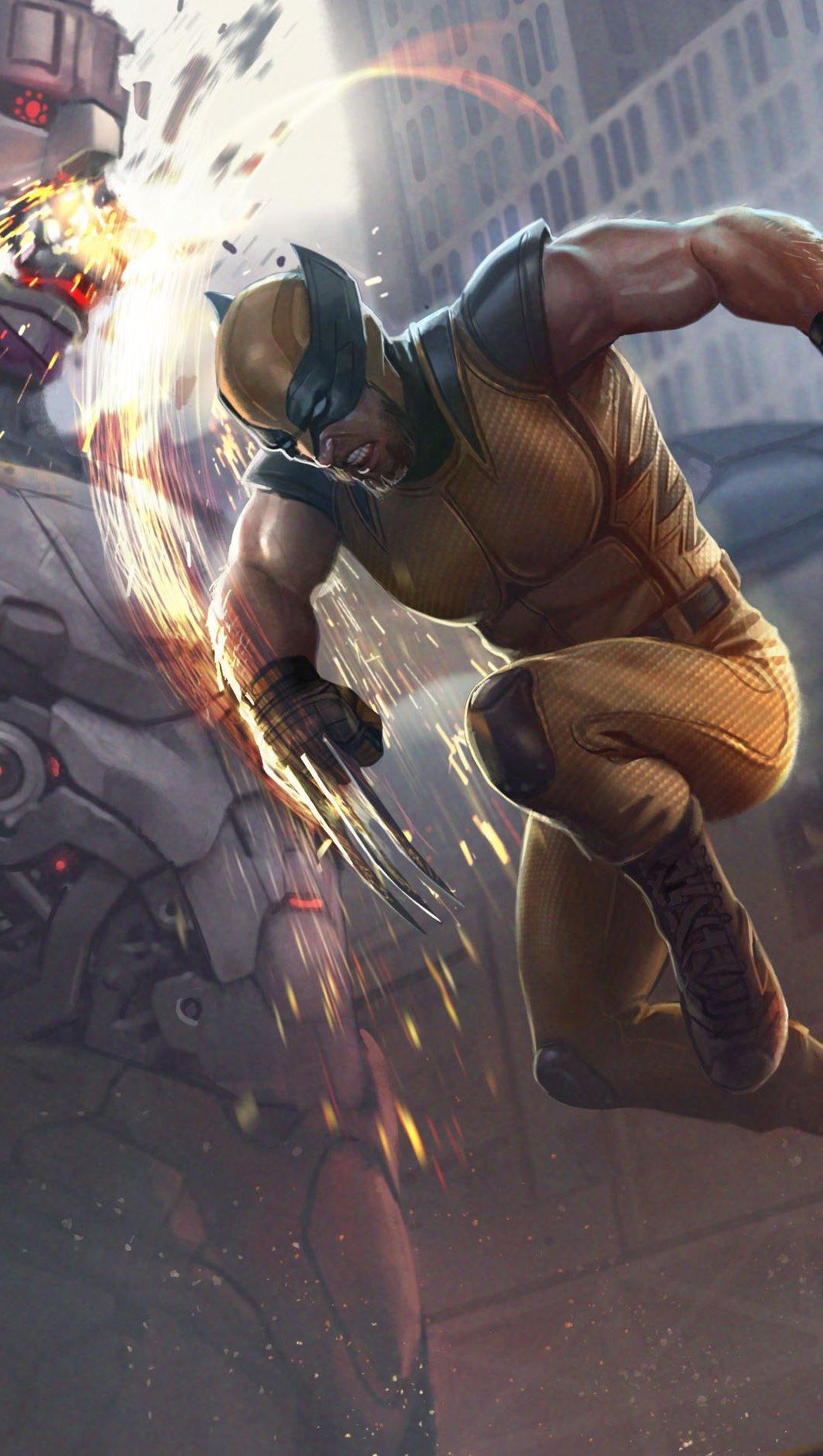 Wallpaper X Men in battle Vertical