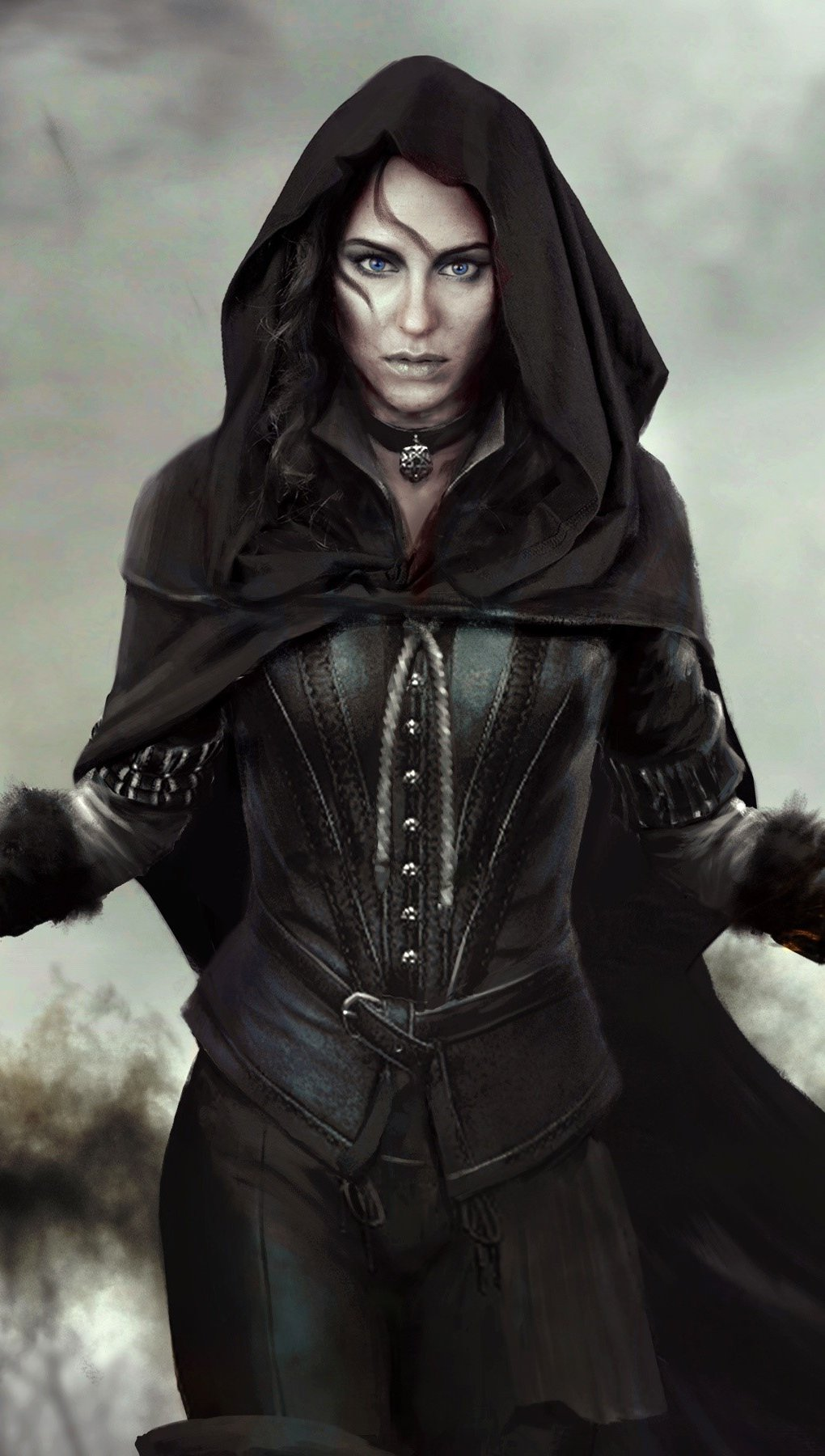 Wallpaper Yennefer from The Witcher 3 Wild Hunt Vertical