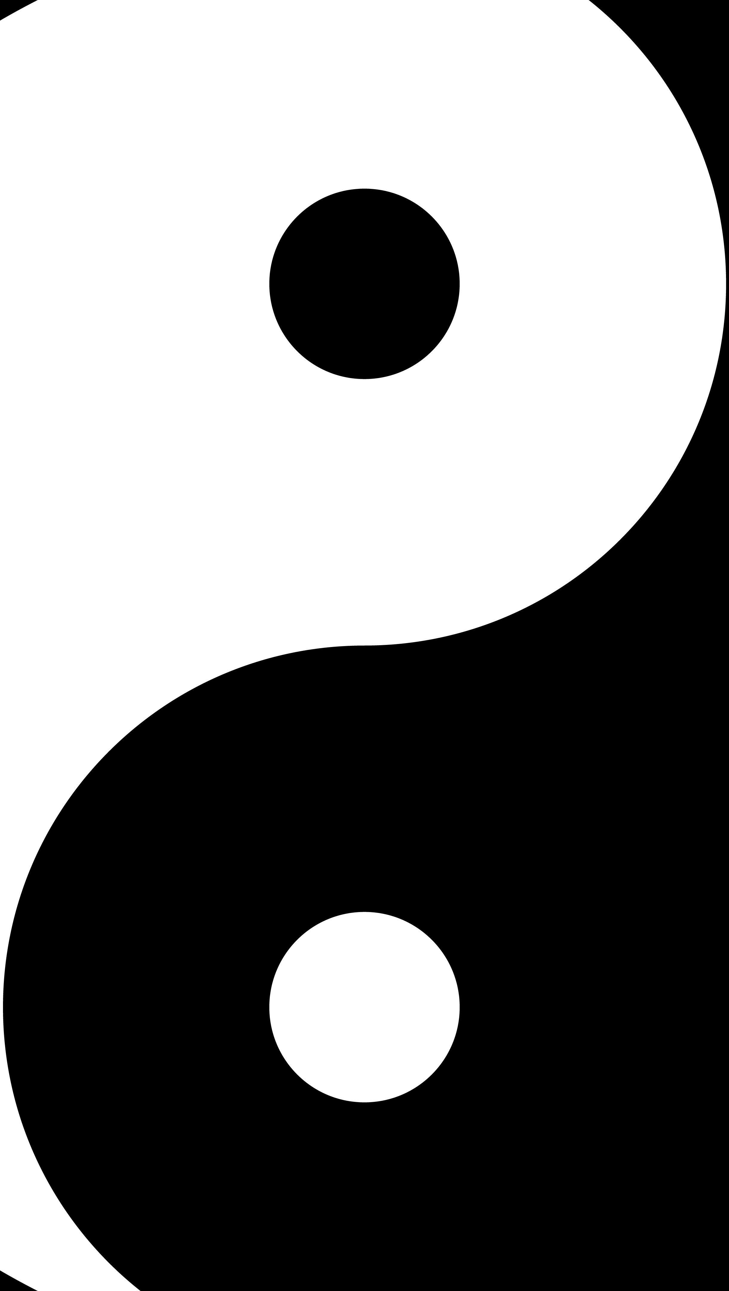 Wallpaper Yin and yang Vertical