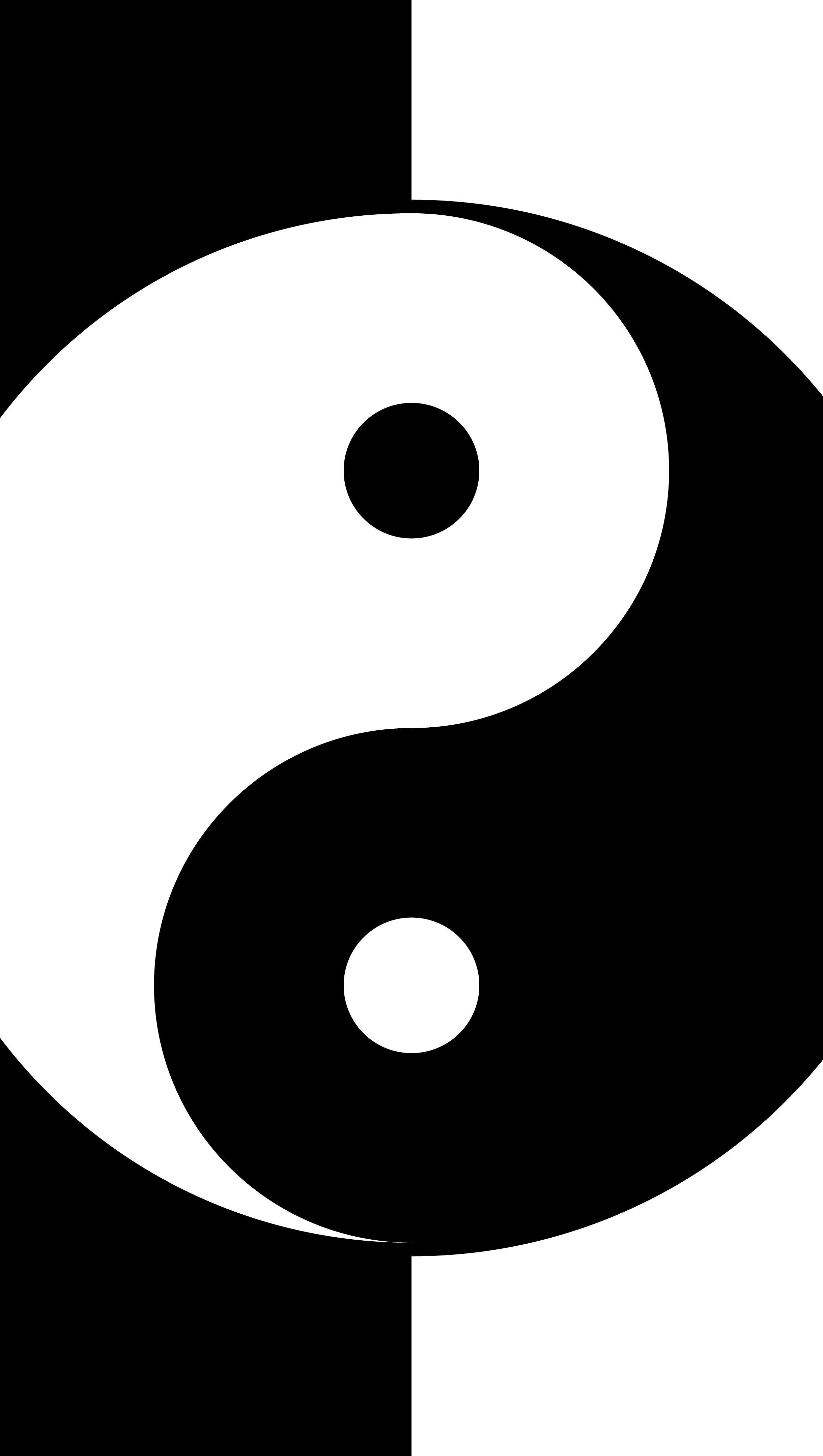 Fondos de pantalla Yin y yang Vertical
