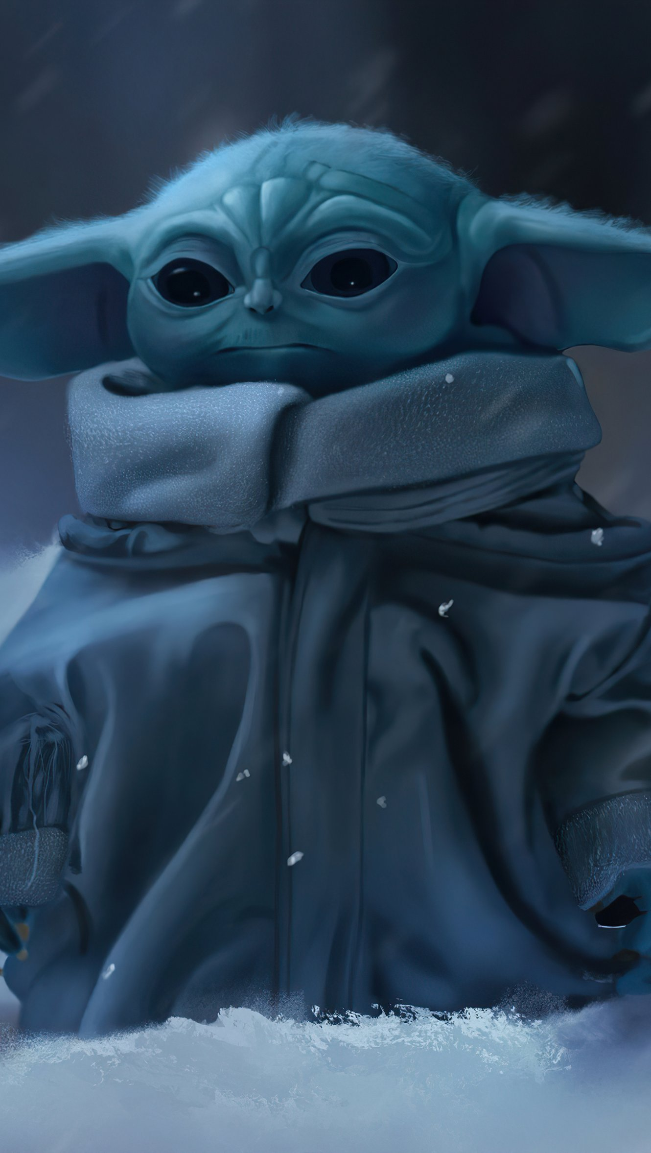 Wallpaper Baby Yoda The Mandalorian Vertical