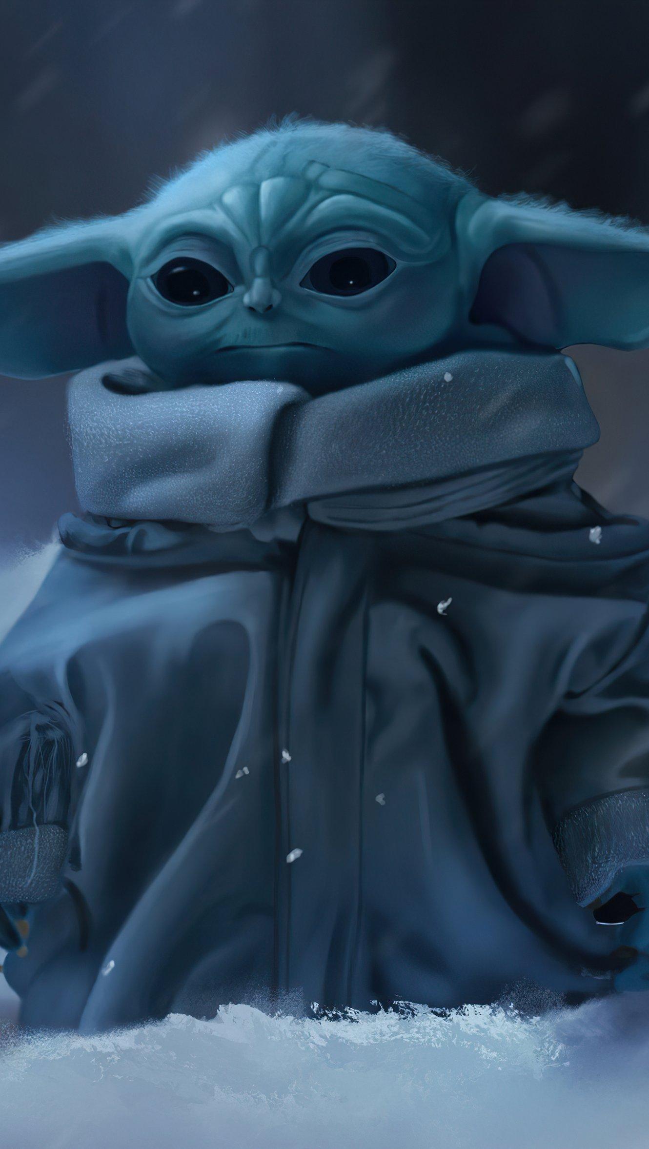 Fondos de pantalla Yoda Bebé Mandaloriano Vertical