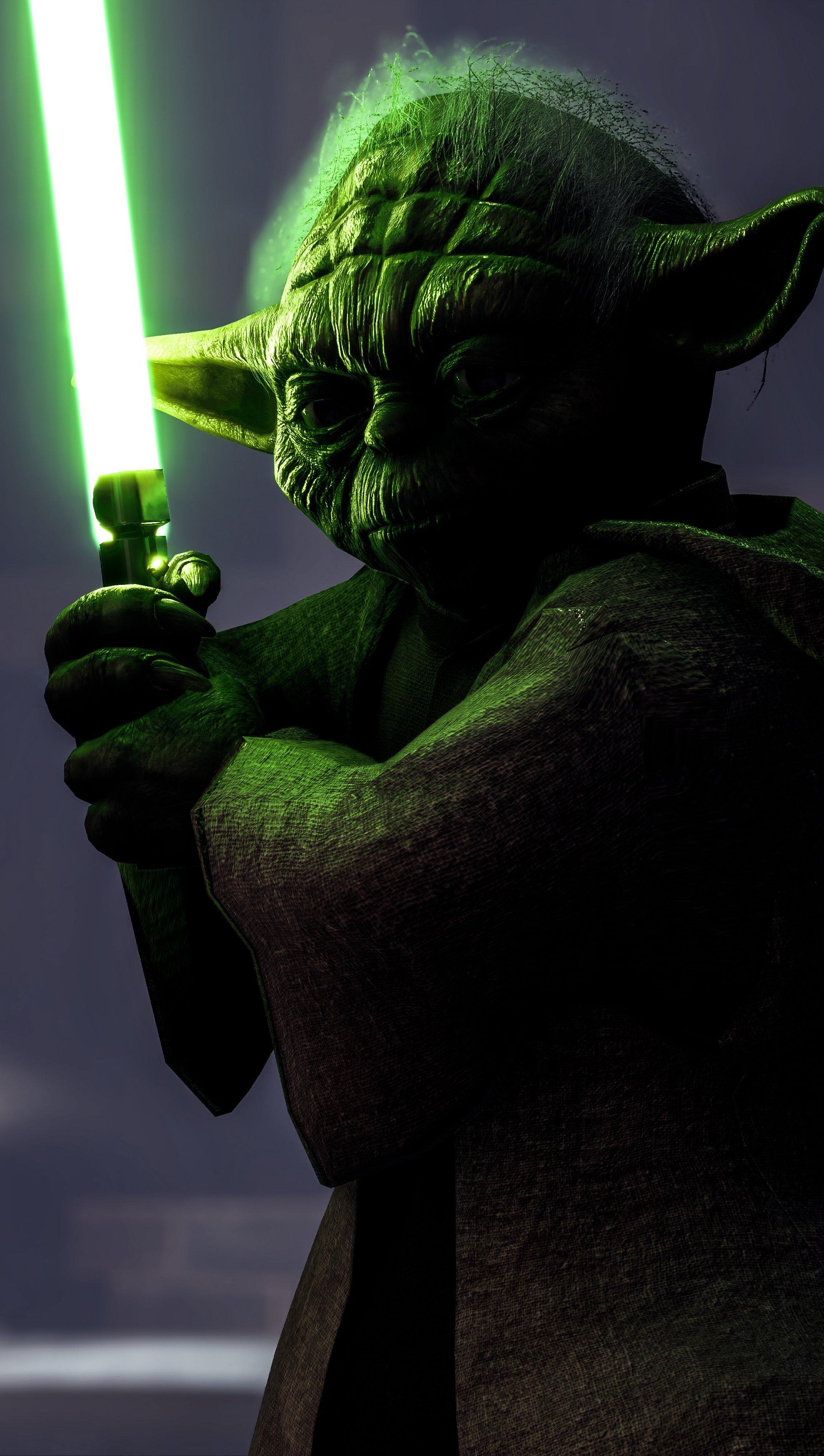 Wallpaper Yoda Star Wars Battlefront Vertical