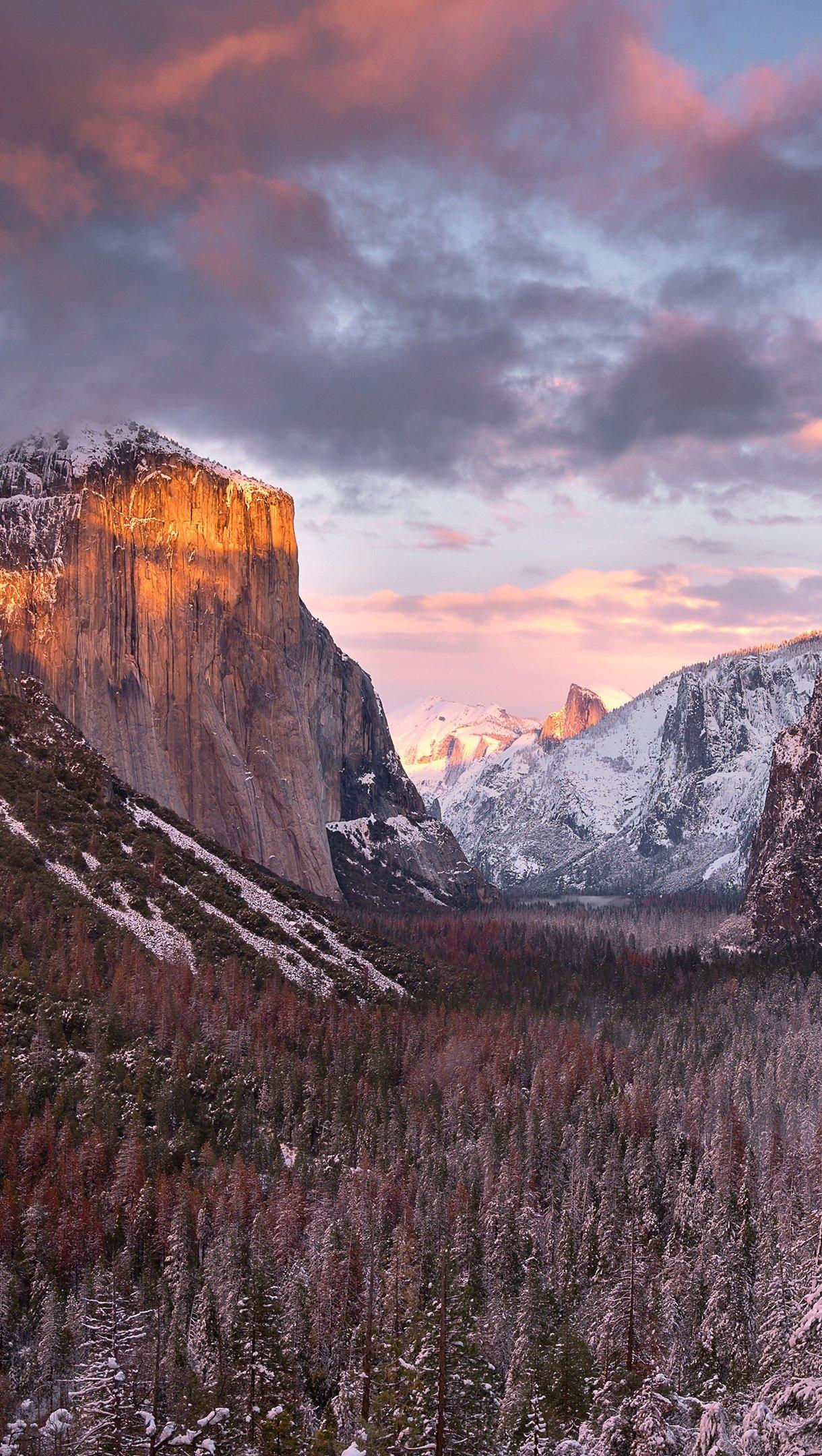 Fondos de pantalla Yosemite al atardecer Vertical