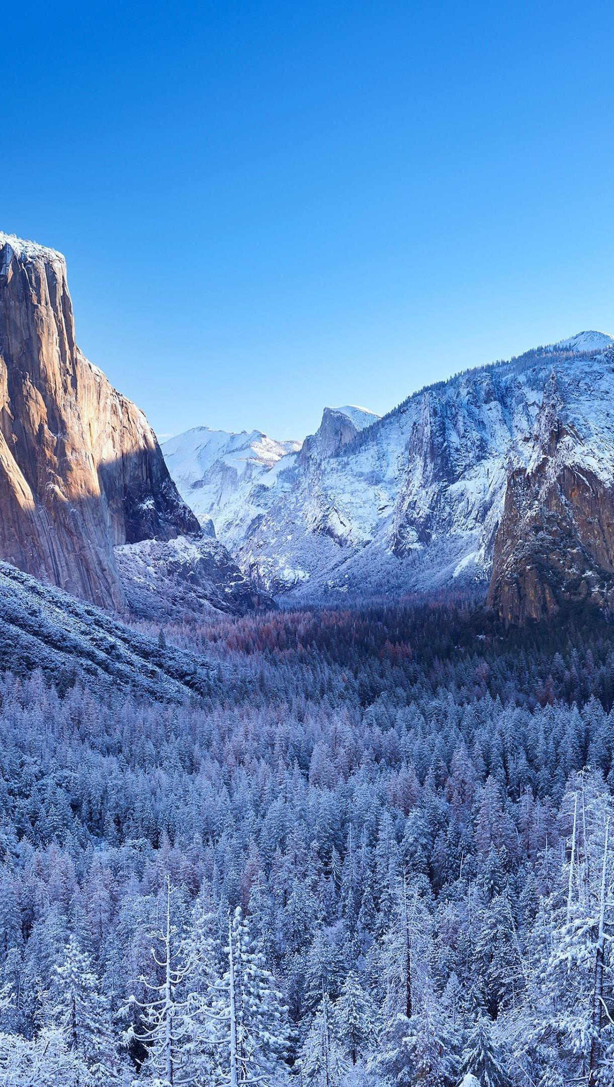 Fondos de pantalla Yosemite durante el invierno Vertical