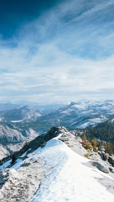 Fondos de pantalla Yosemite en invierno Vertical