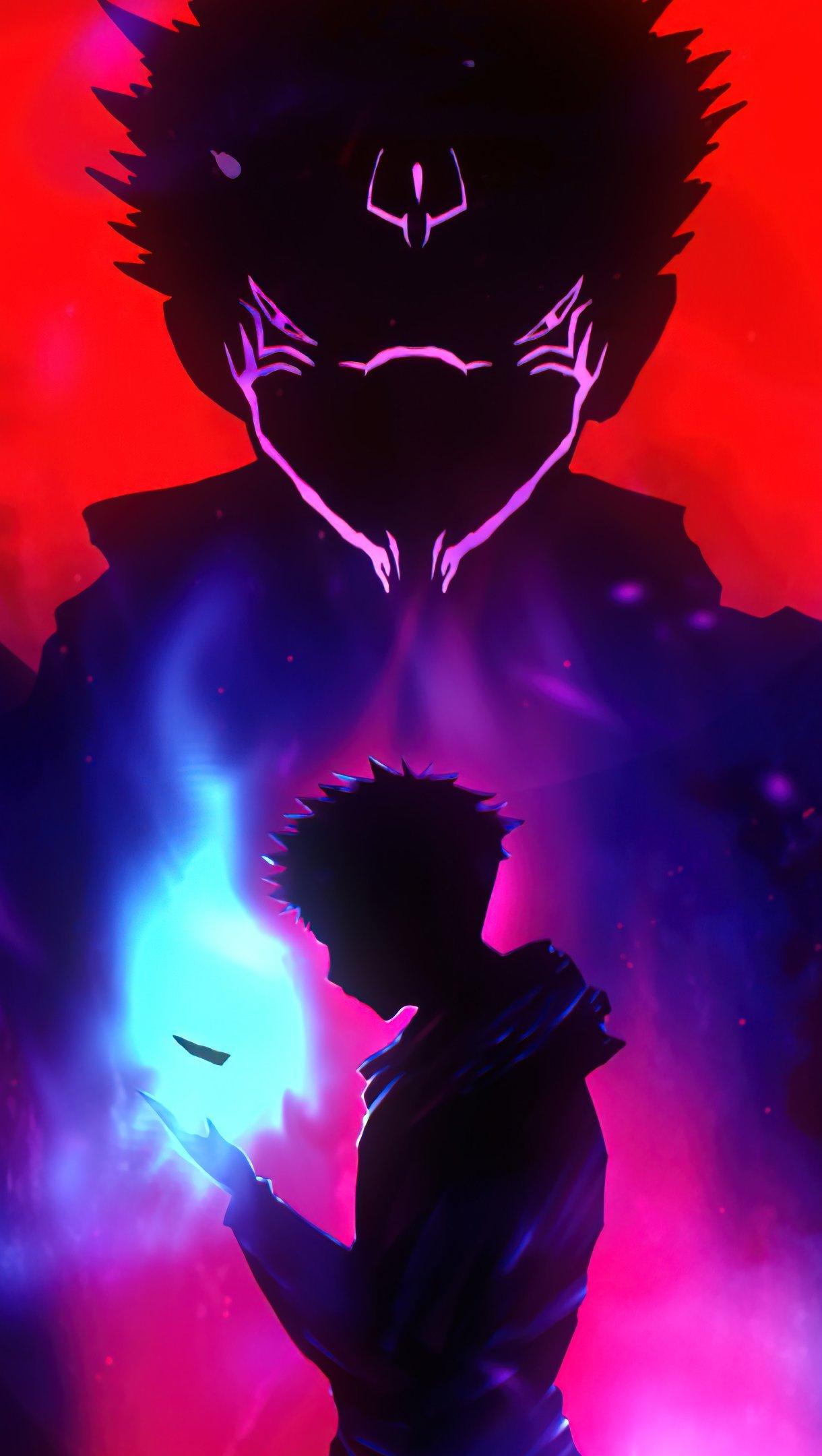 Anime Wallpaper Yuji Itadori from Jujutsu Kaisen Vertical