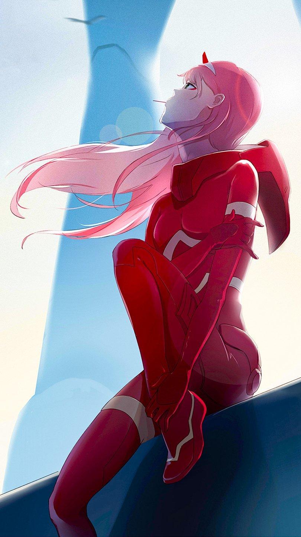 Fondos de pantalla Anime Zero Two de Darling in the Franxx Vertical