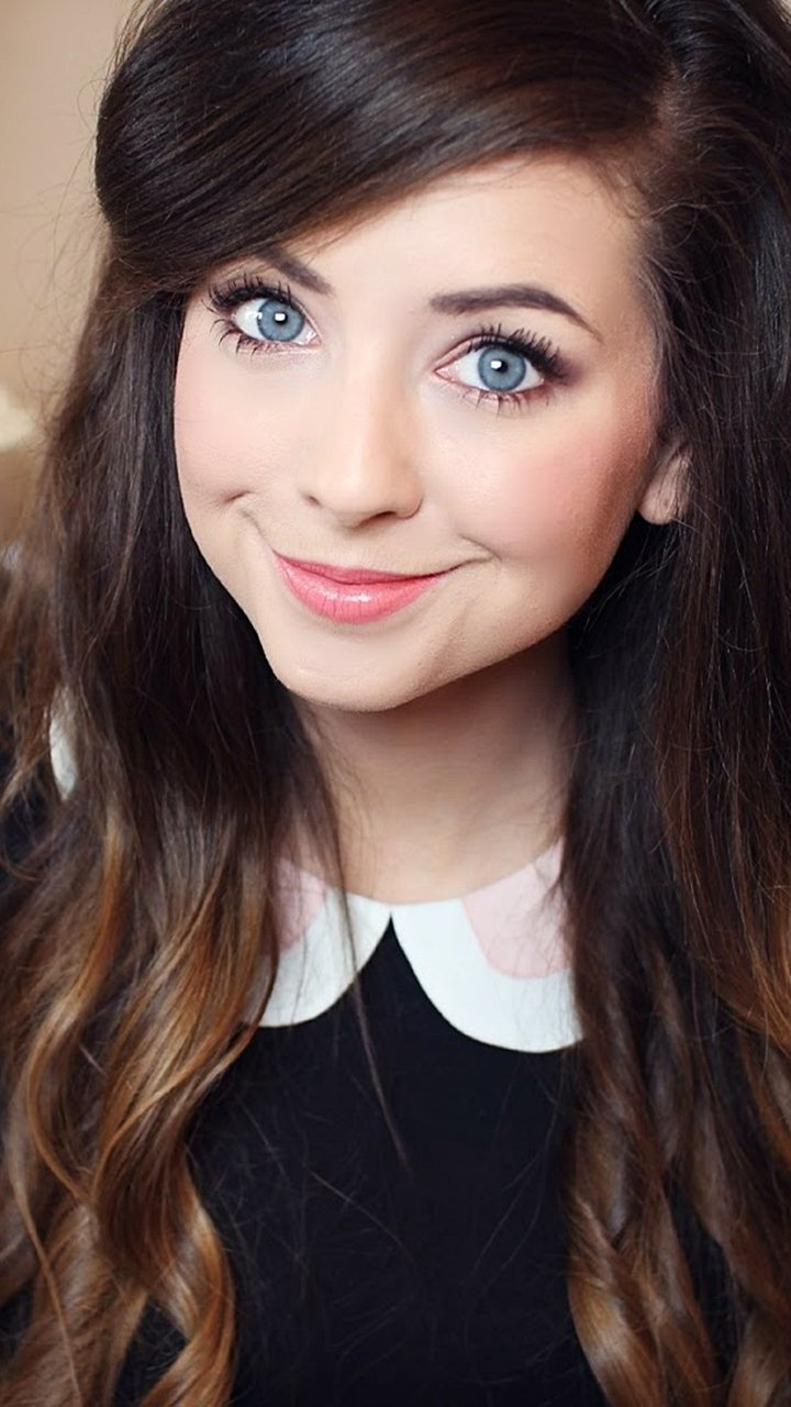 Wallpaper Zoella in a video Vertical