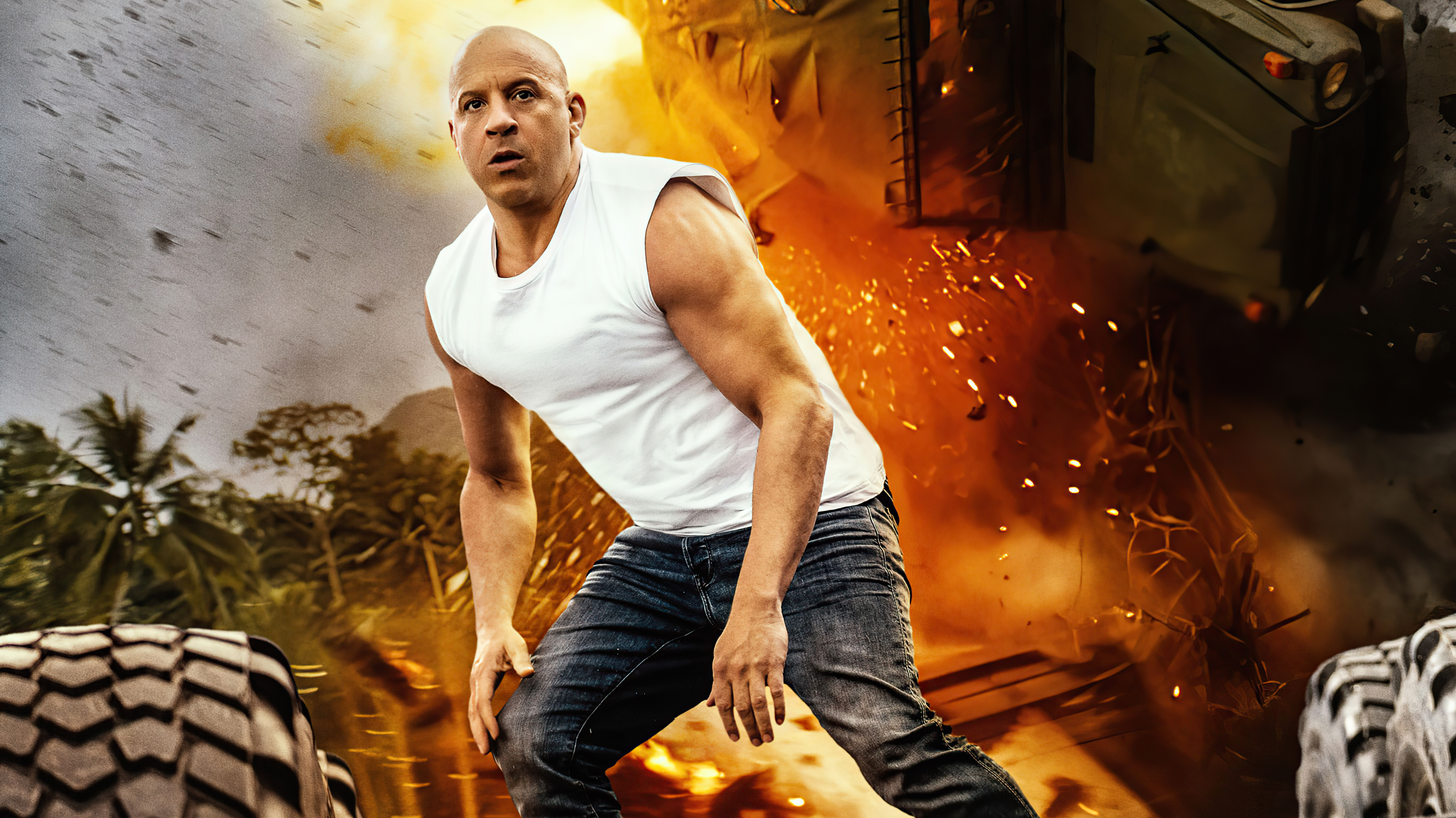 Wallpaper Vin Diesel as Dominic Toretto in Fast and furious 9 2021