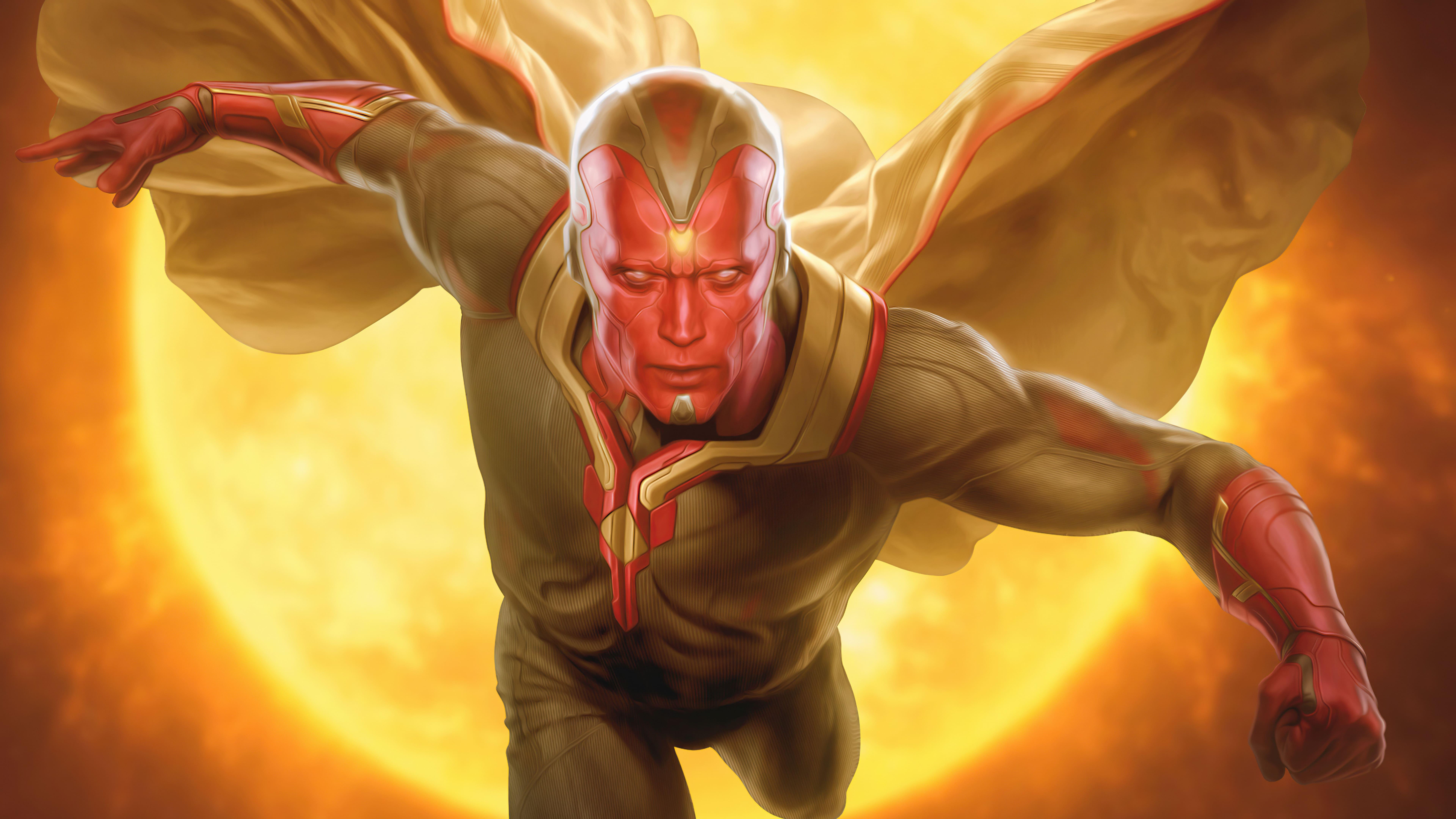 Fondos de pantalla Vision Marvel Artwork