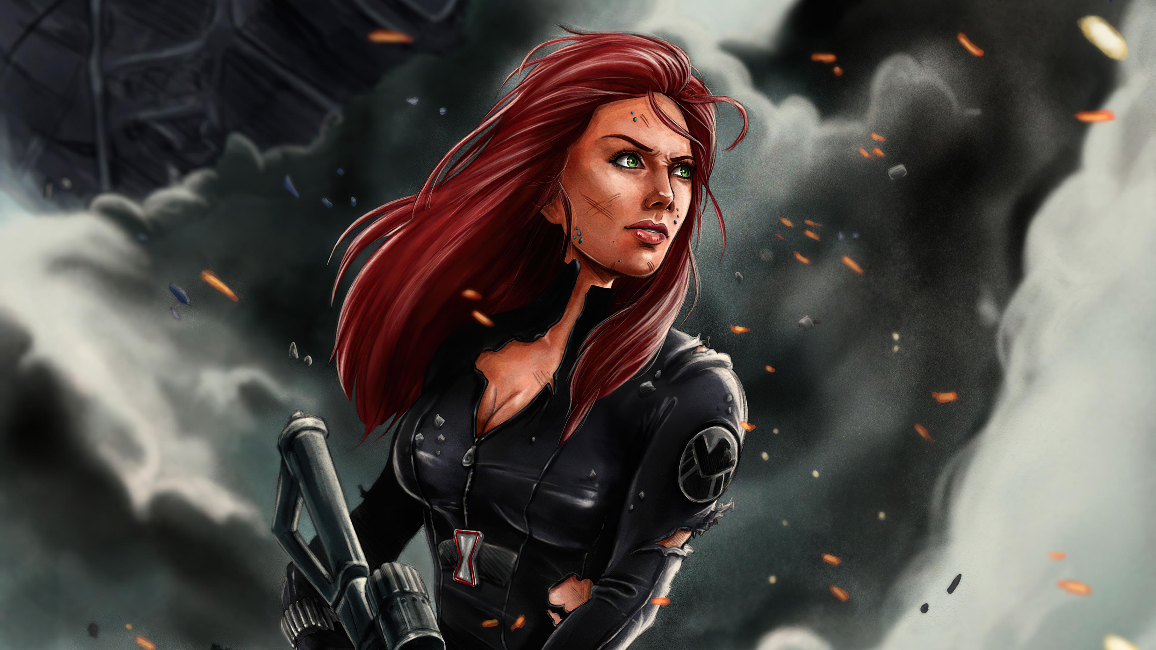 Fondos de pantalla Viuda Negra Ilustración Marvel