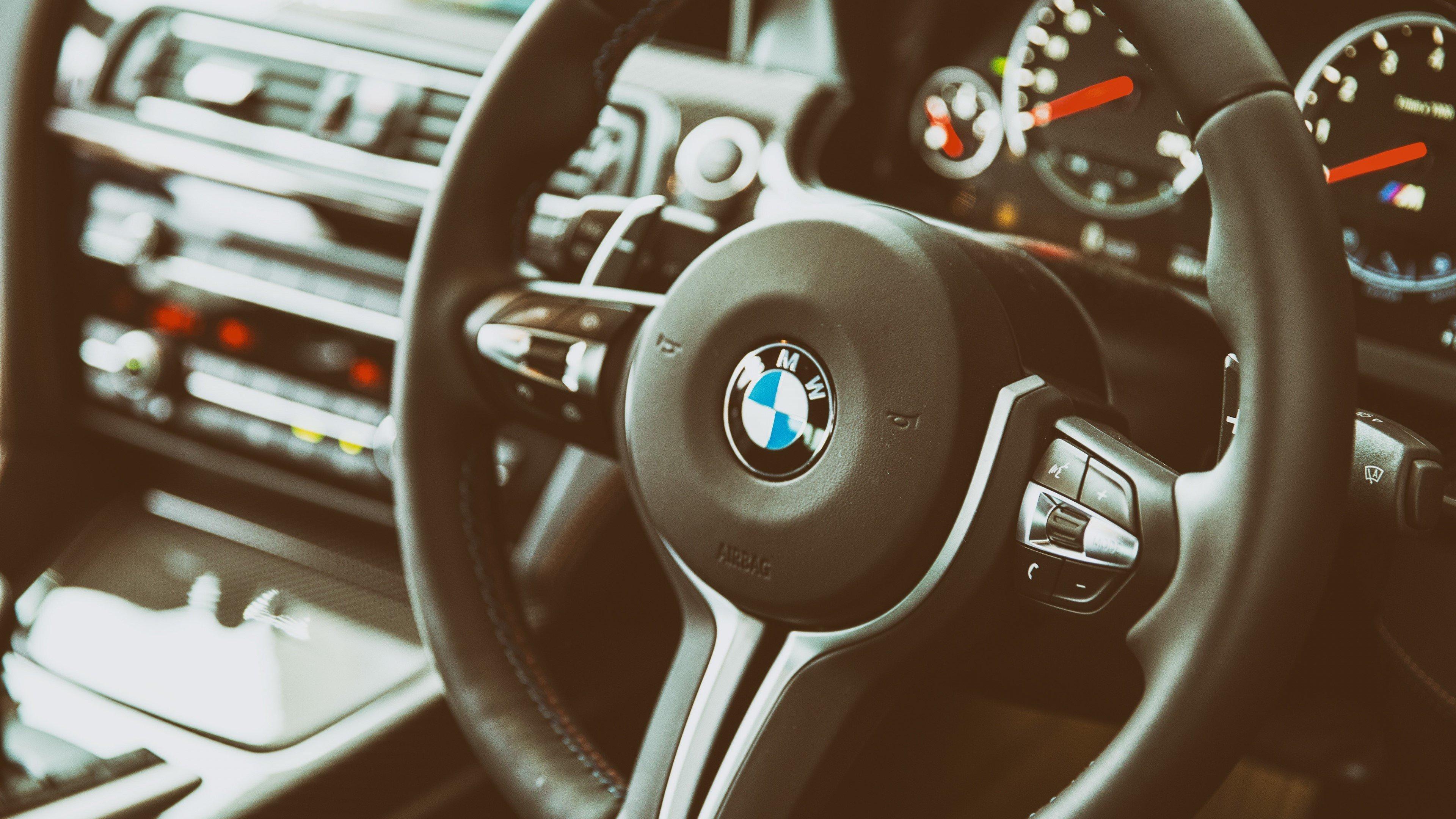 Wallpaper BMW M6 steering wheel
