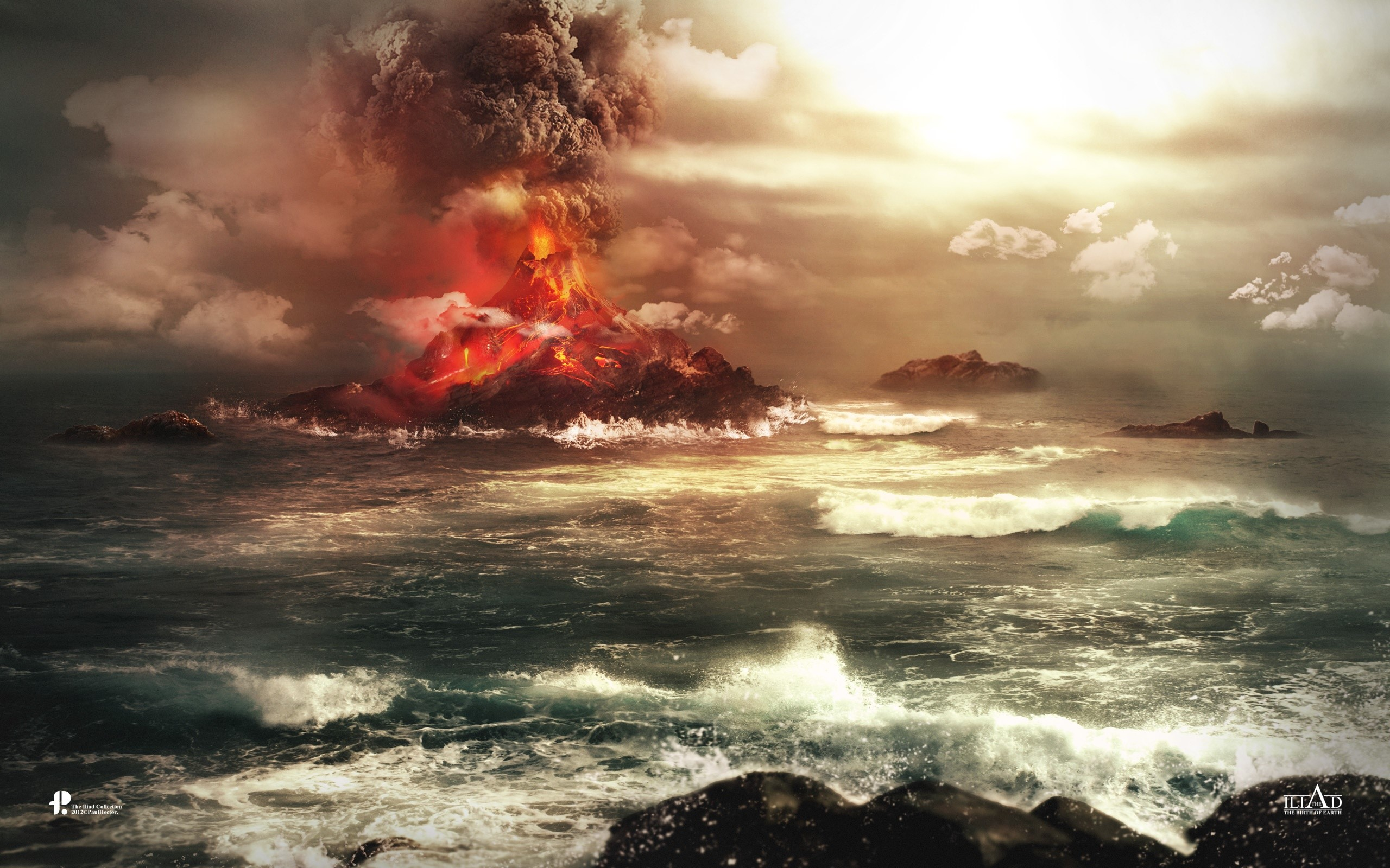 Wallpaper Volcano