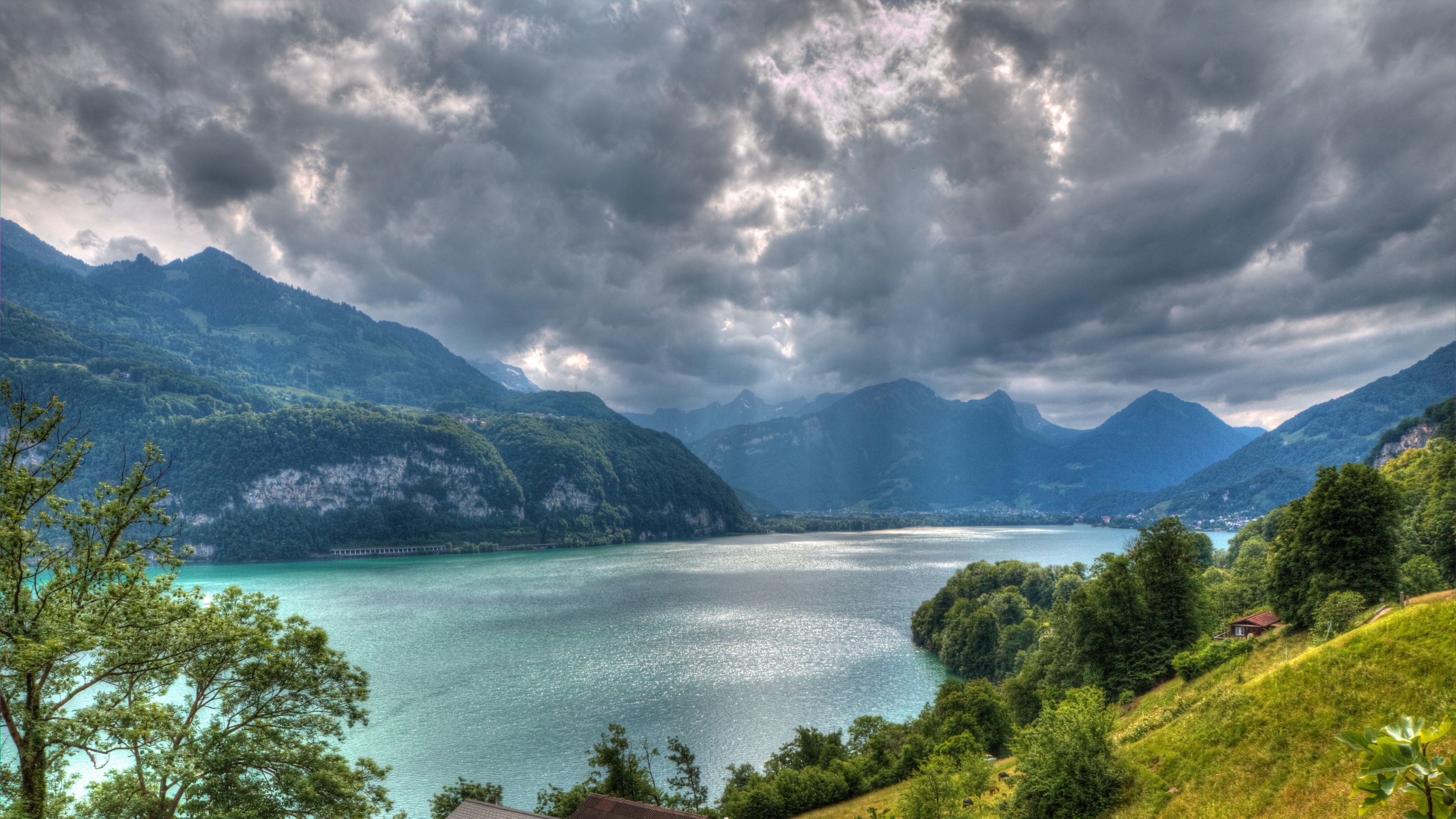 Wallpaper Walensee lake in Switzerland