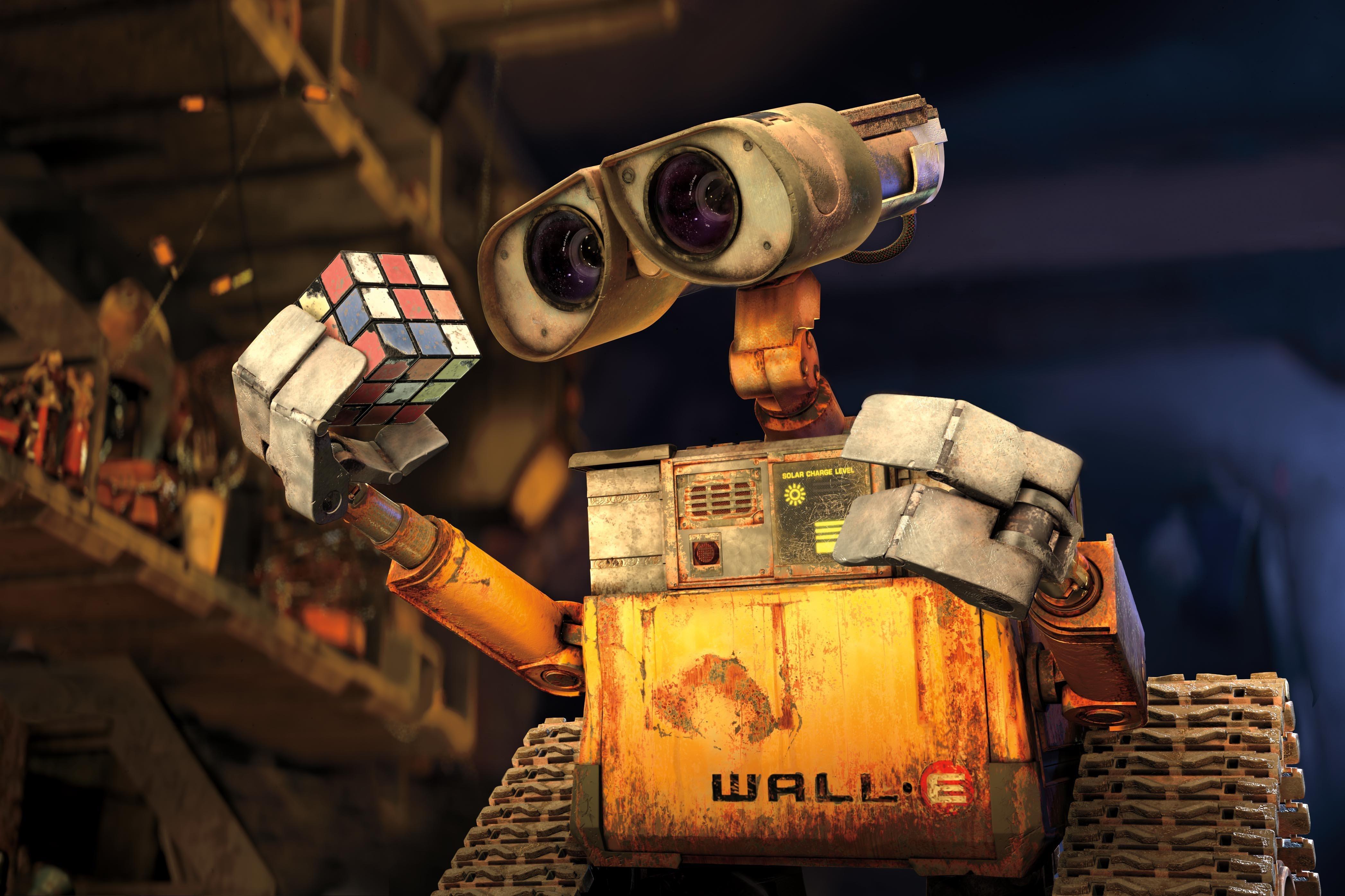 Fondos de pantalla Wall E con cubo rubik